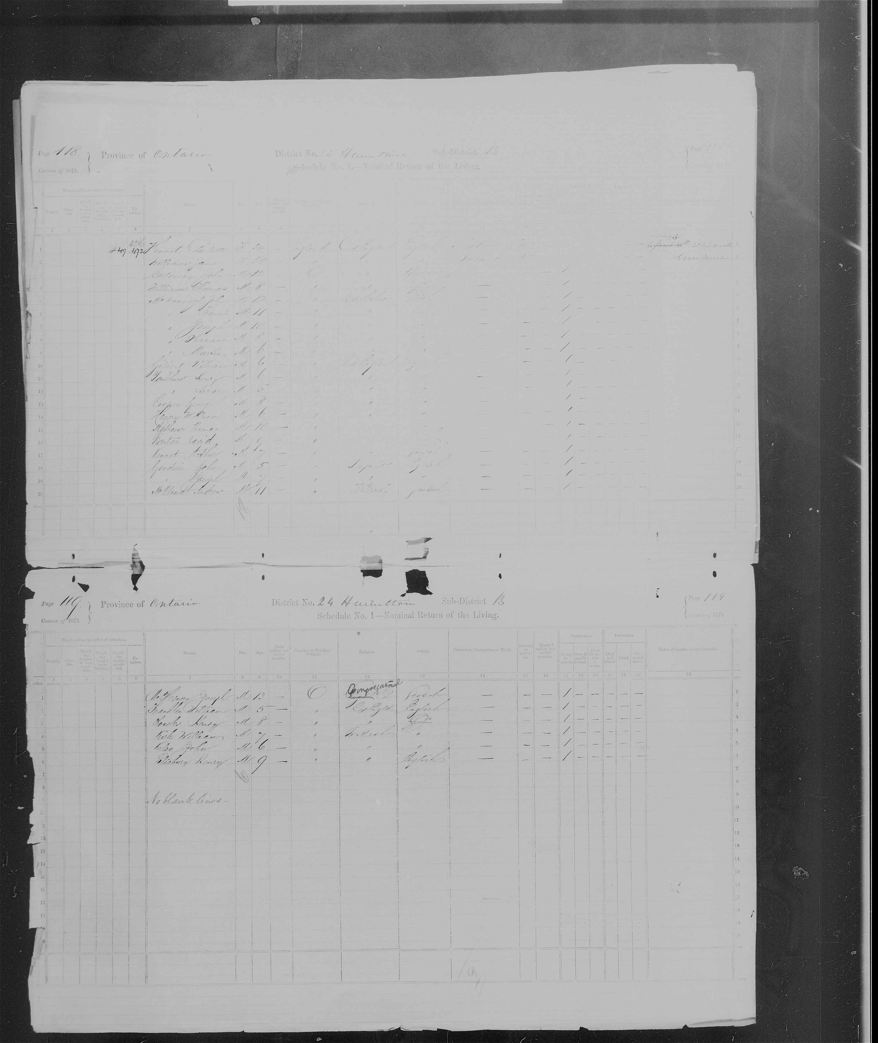 Title: Census of Canada, 1871 - Mikan Number: 142105 - Microform: c-9926