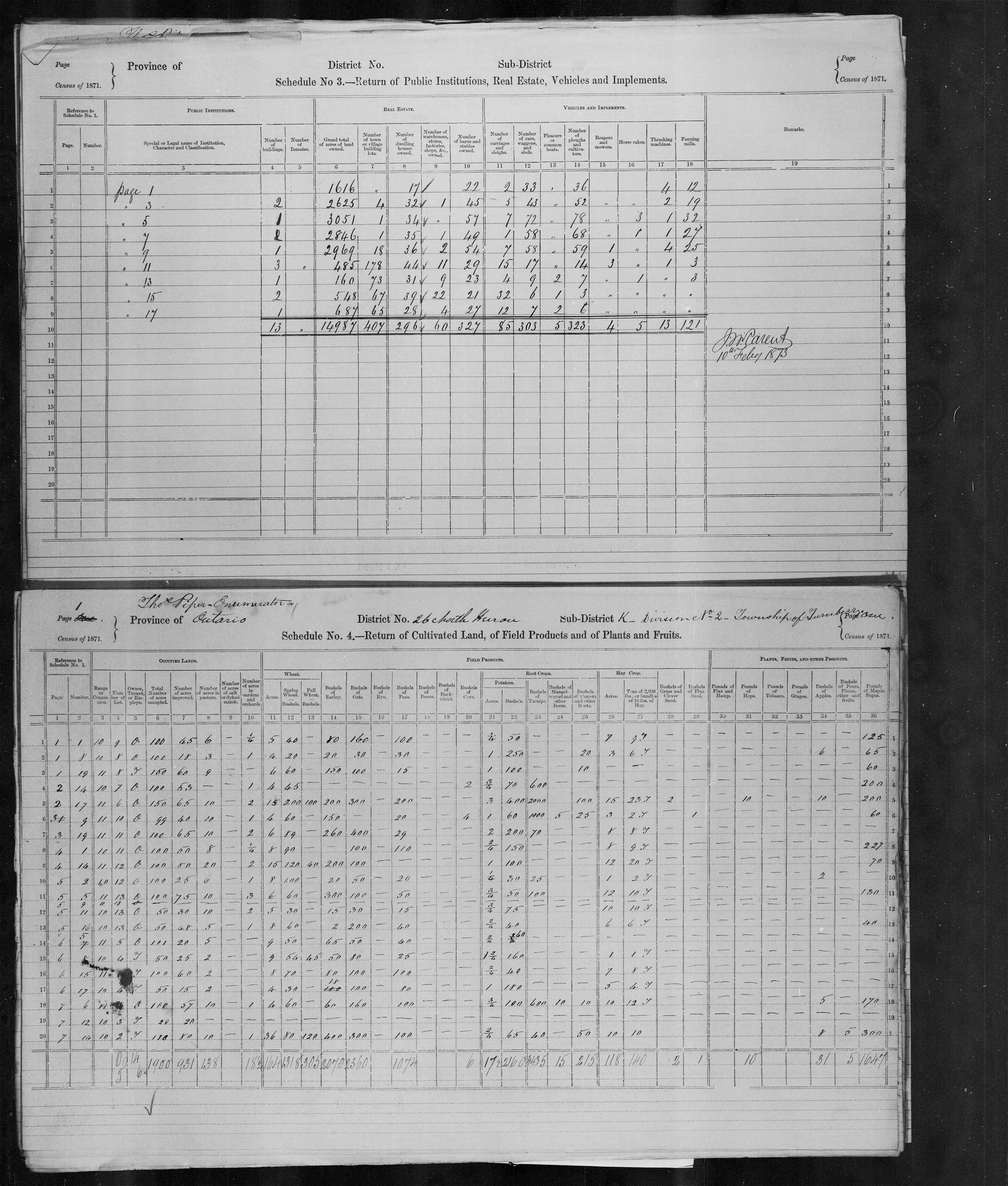 Title: Census of Canada, 1871 - Mikan Number: 142105 - Microform: c-9933