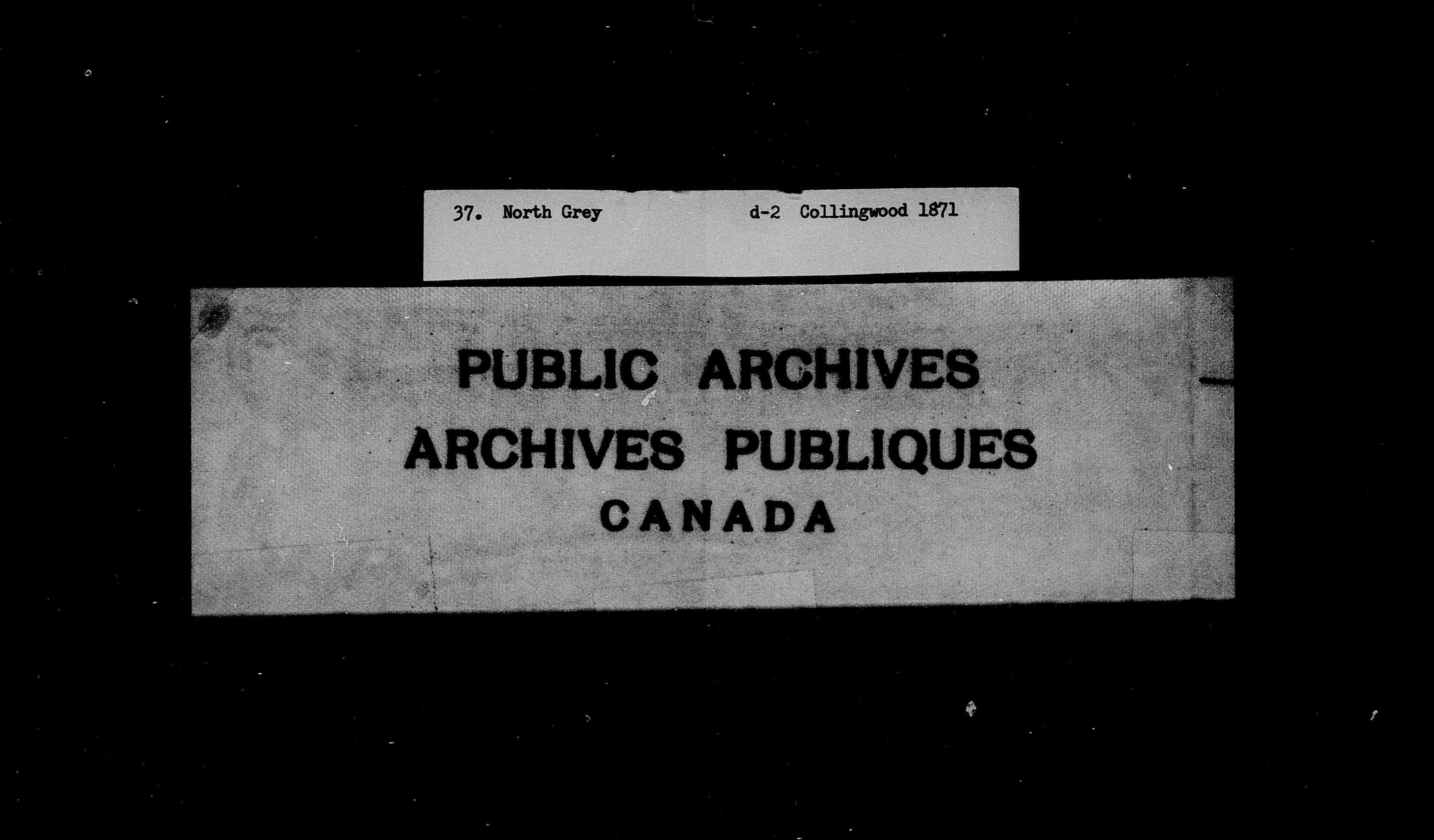Title: Census of Canada, 1871 - Mikan Number: 142105 - Microform: c-9953