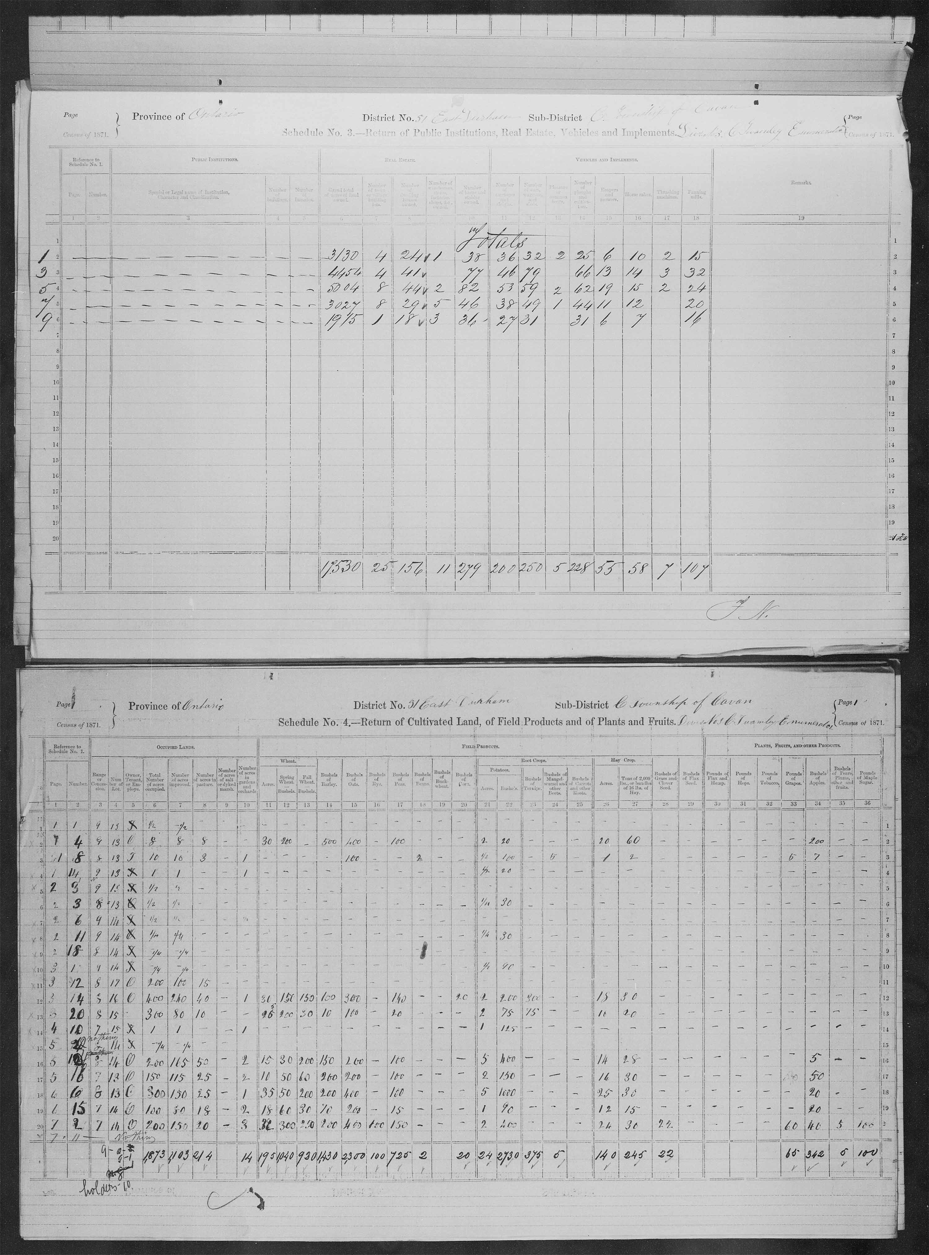 Title: Census of Canada, 1871 - Mikan Number: 142105 - Microform: c-9980