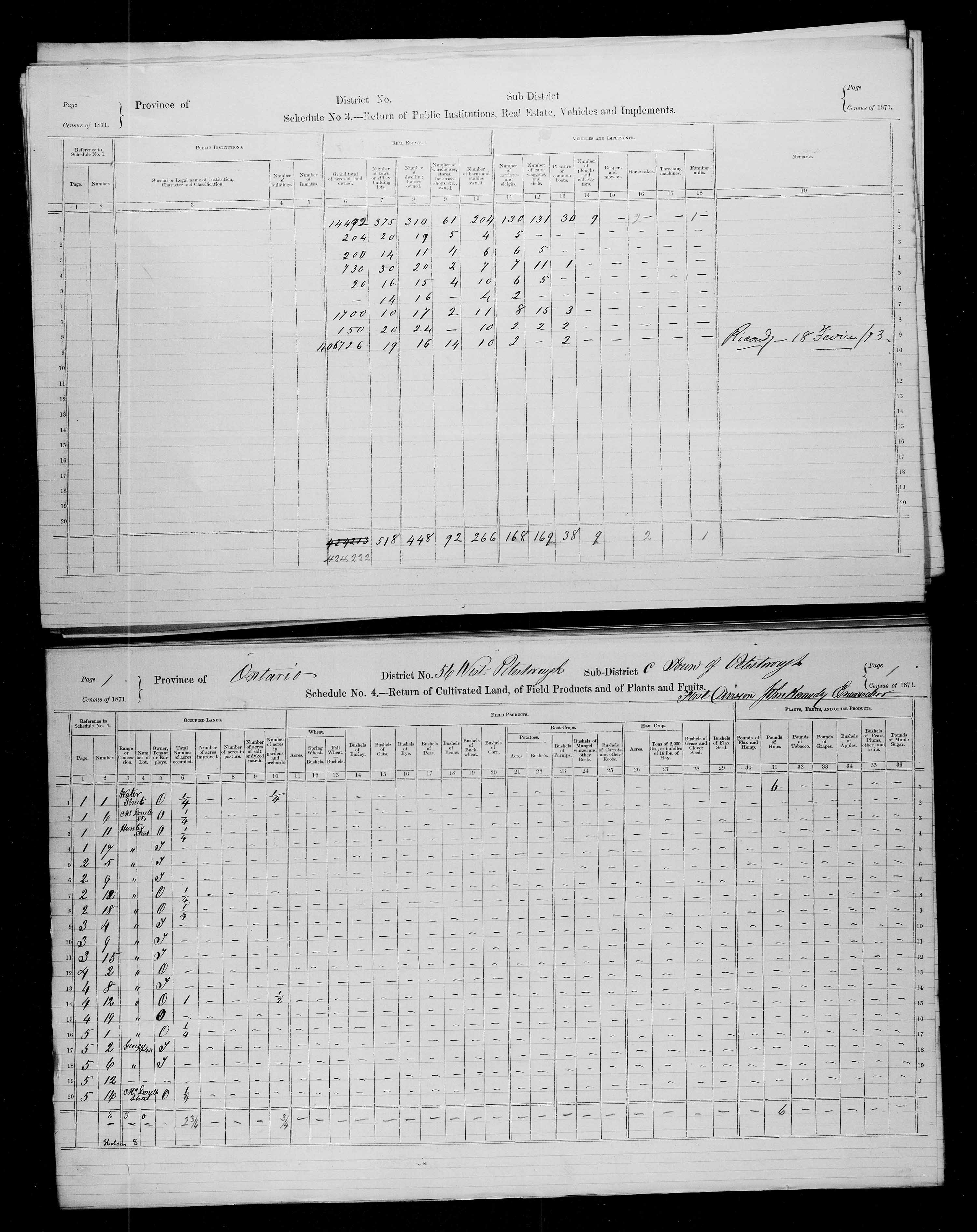 Title: Census of Canada, 1871 - Mikan Number: 142105 - Microform: c-9986