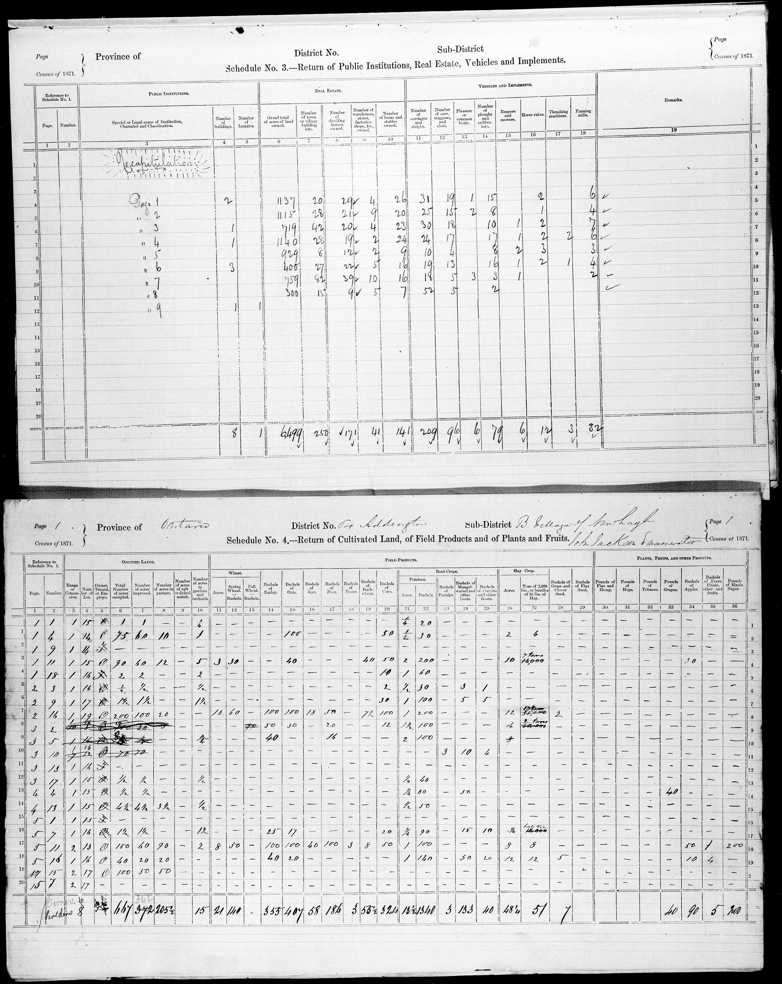 Title: Census of Canada, 1871 - Mikan Number: 142105 - Microform: c-9997