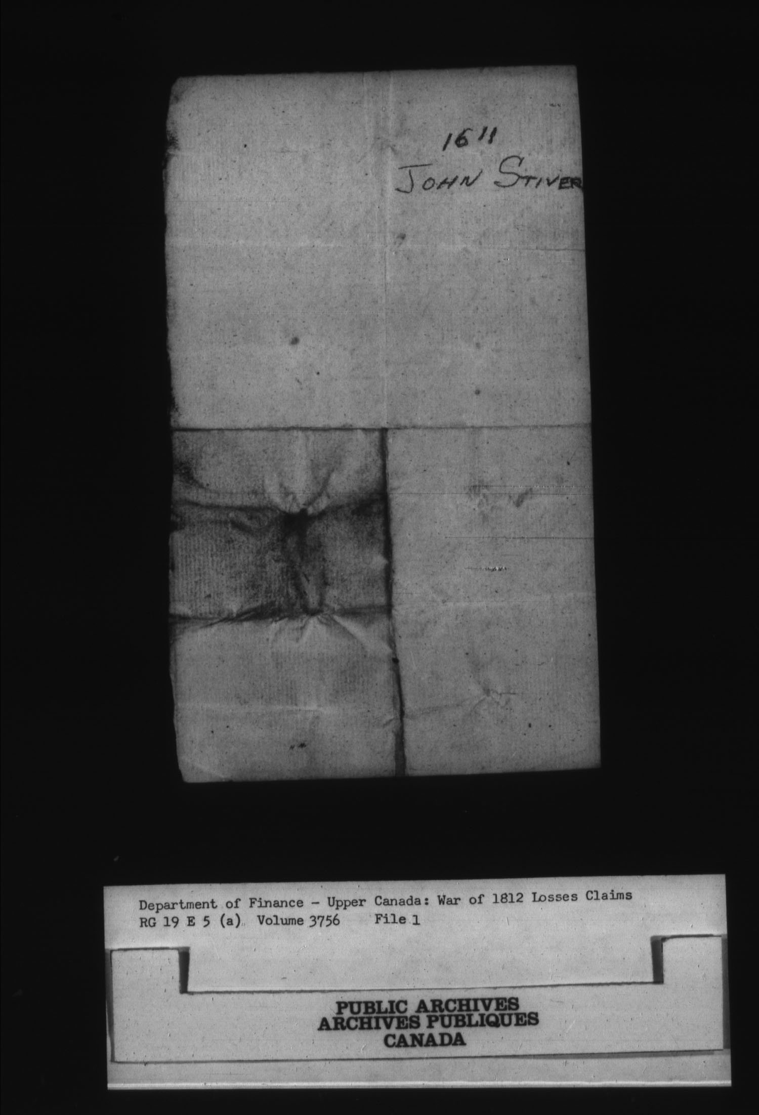 Title: War of 1812: Board of Claims for Losses, 1813-1848, RG 19 E5A - Mikan Number: 139215 - Microform: t-1137