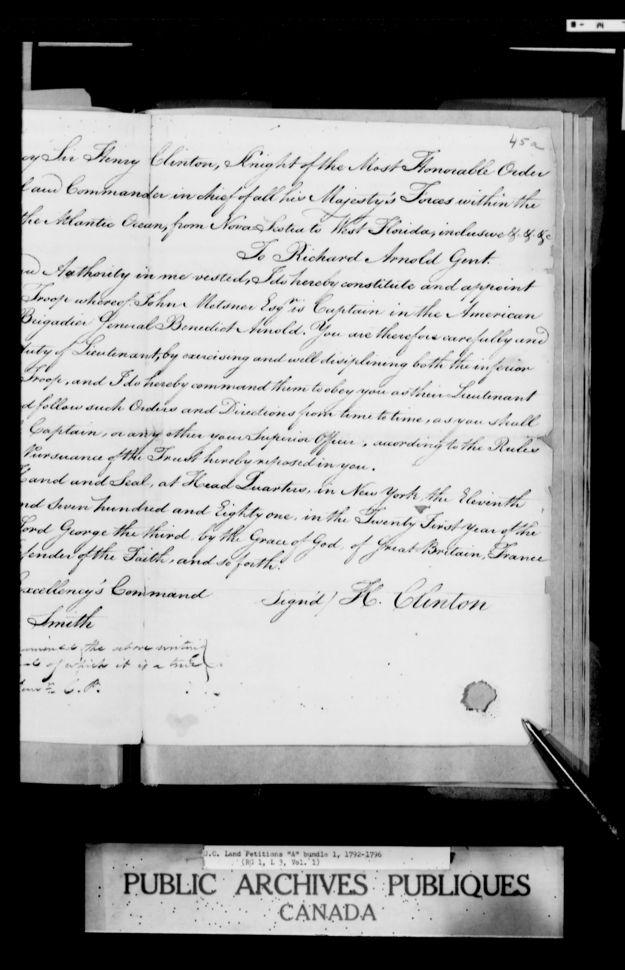 Title: Upper Canada Land Petitions (1763-1865) - Mikan Number: 205131 - Microform: c-1609
