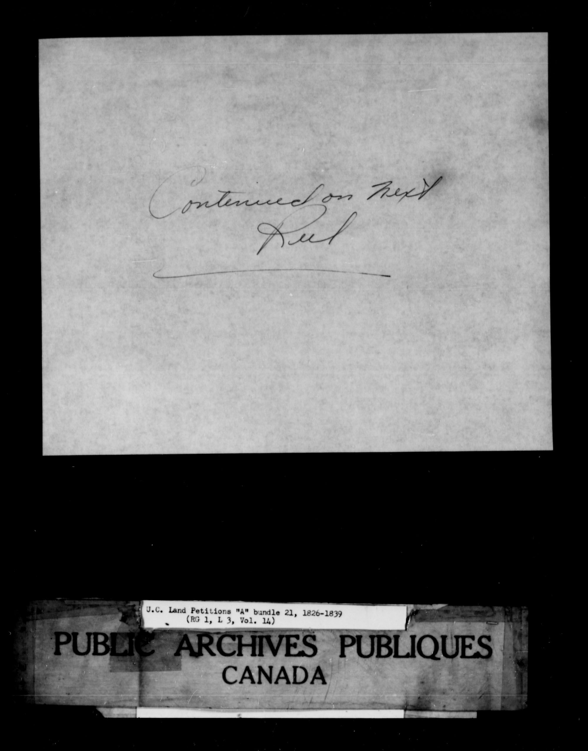 Title: Upper Canada Land Petitions (1763-1865) - Mikan Number: 205131 - Microform: c-1613