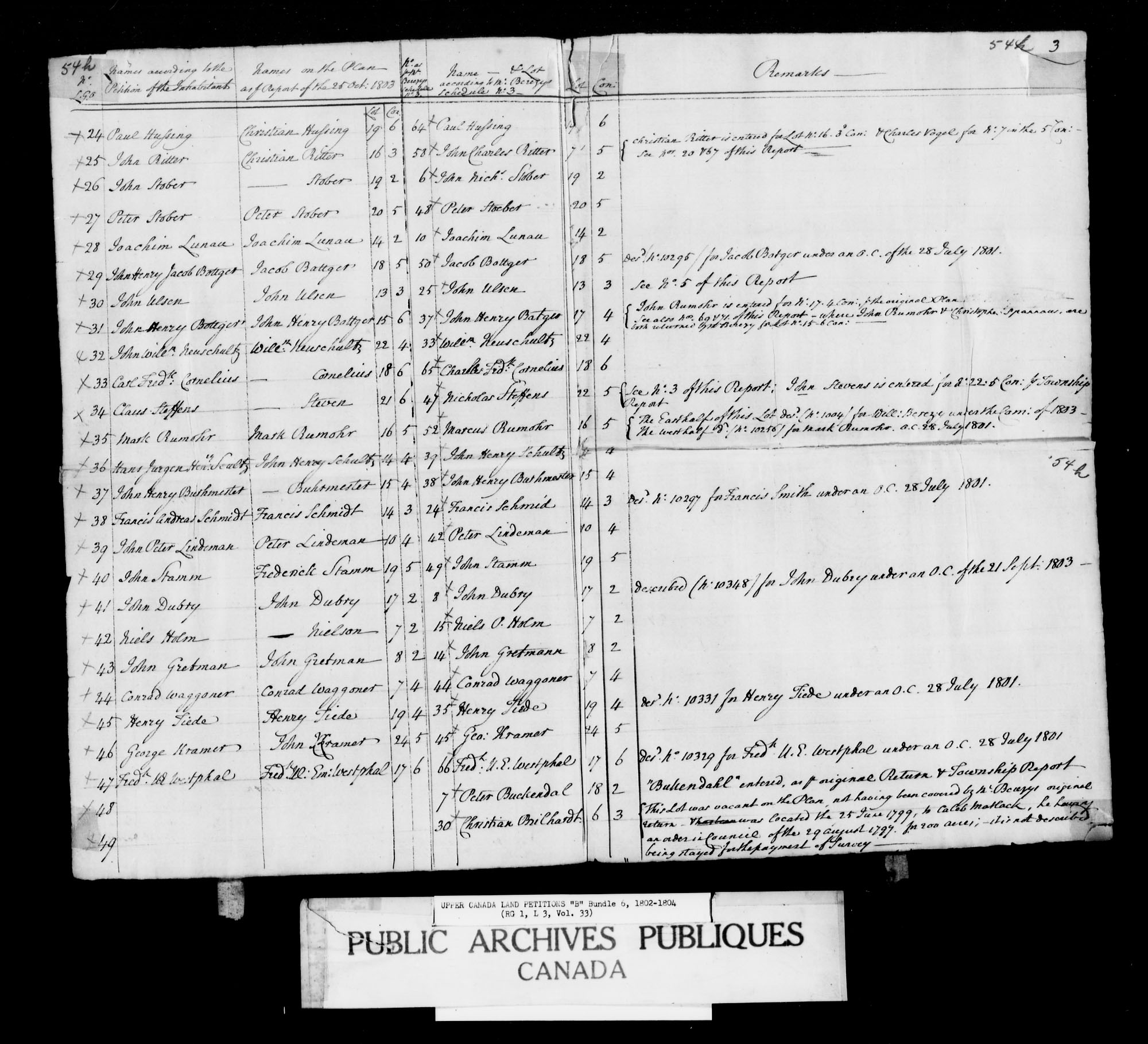 Title: Upper Canada Land Petitions (1763-1865) - Mikan Number: 205131 - Microform: c-1621
