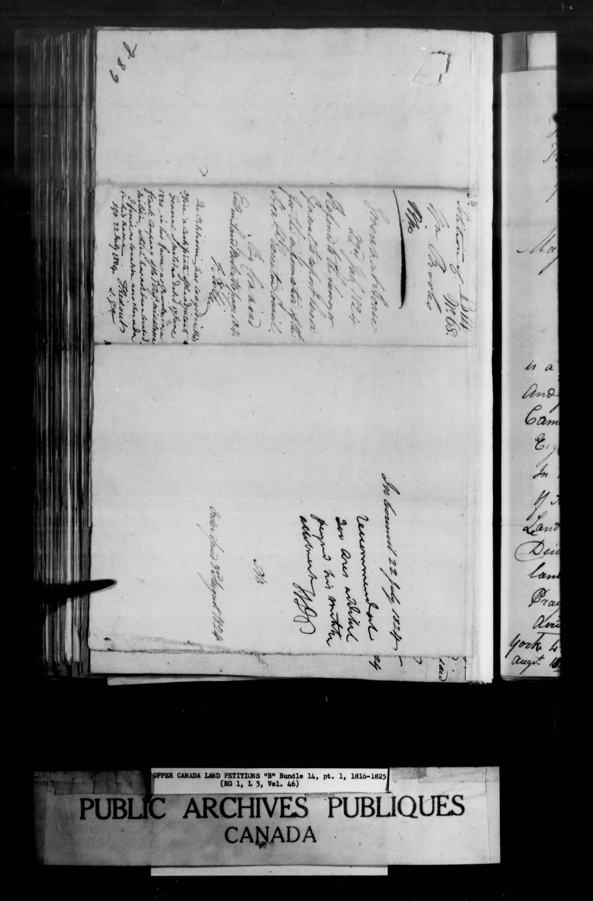Title: Upper Canada Land Petitions (1763-1865) - Mikan Number: 205131 - Microform: c-1626