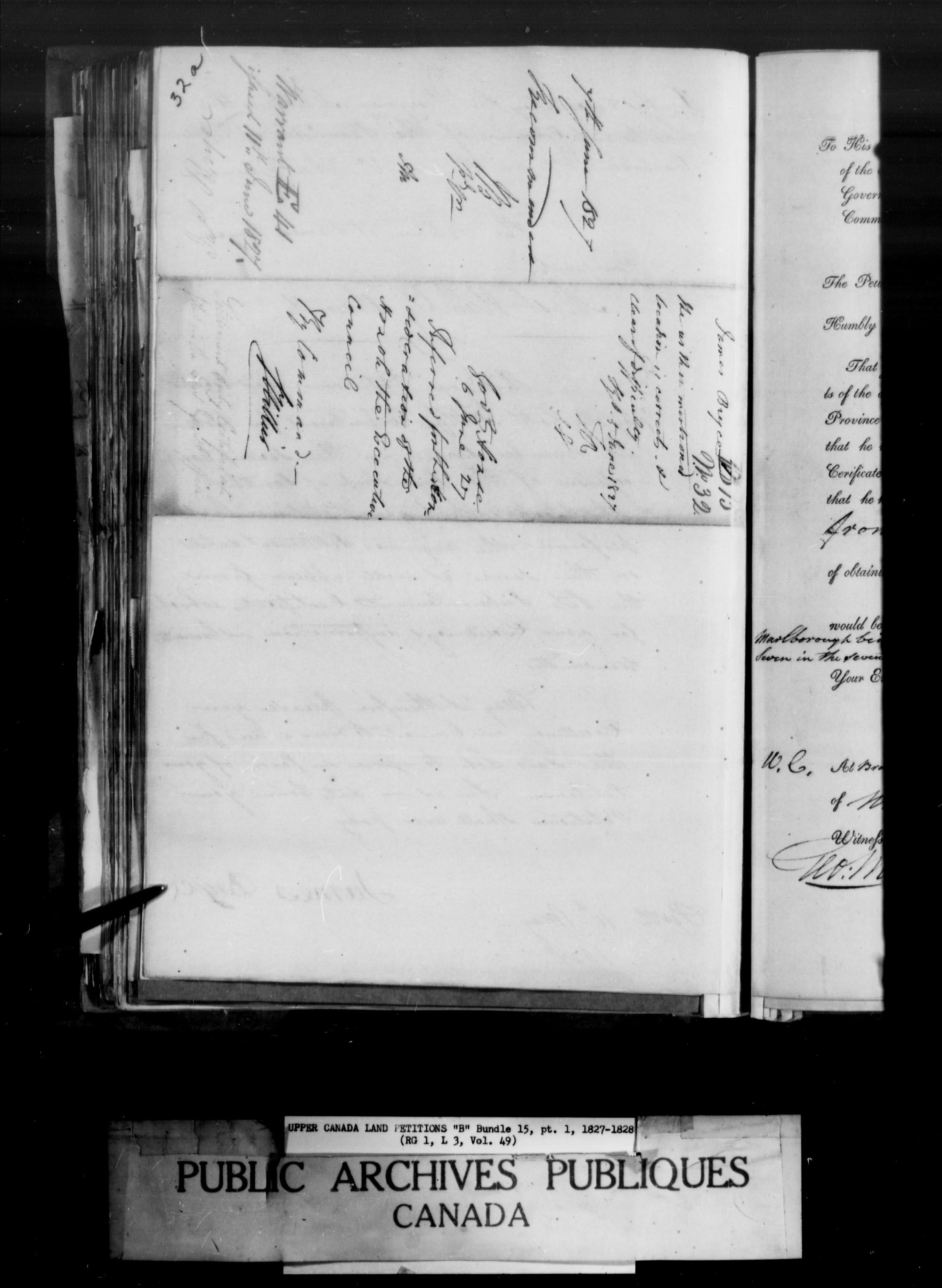Title: Upper Canada Land Petitions (1763-1865) - Mikan Number: 205131 - Microform: c-1628