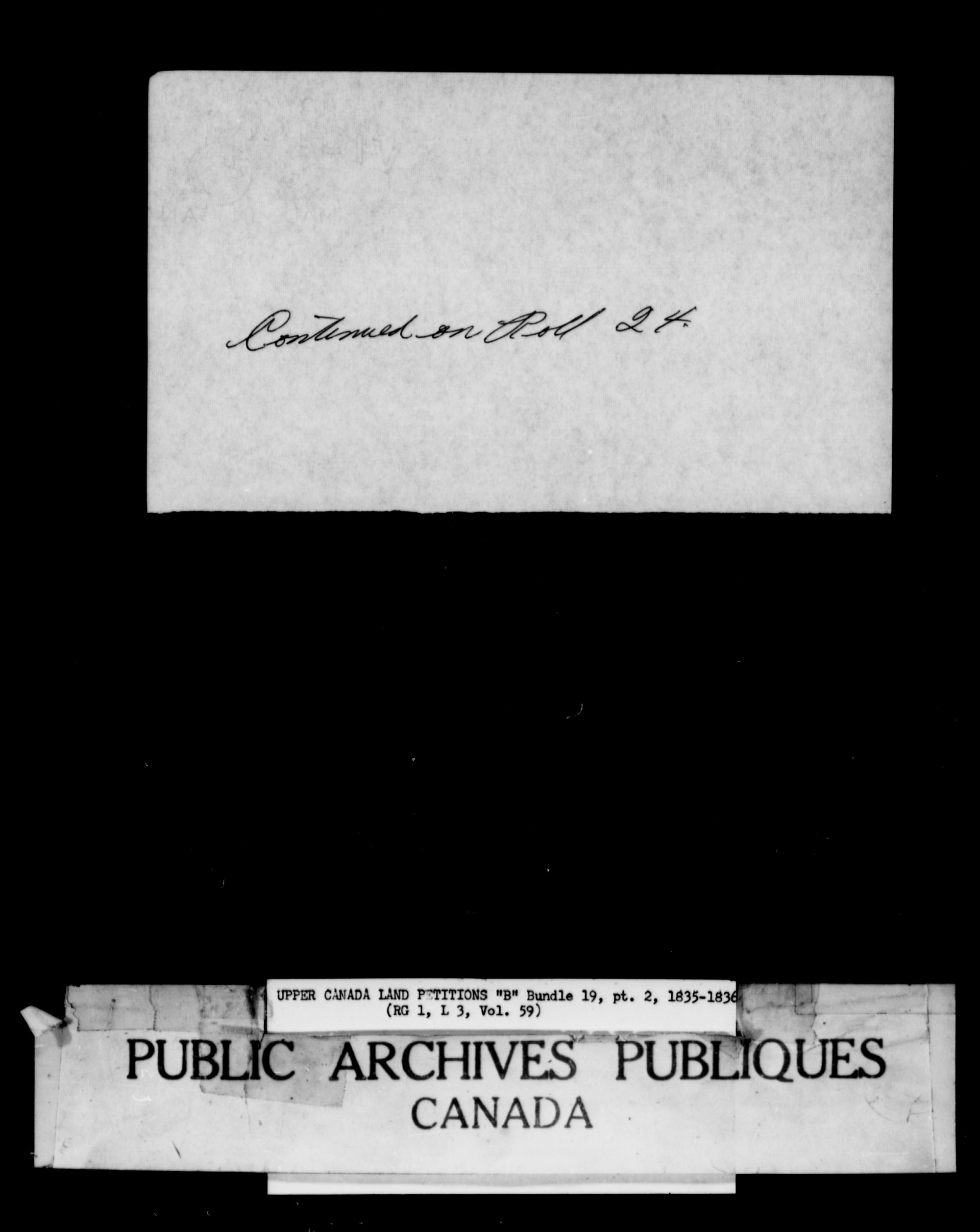 Title: Upper Canada Land Petitions (1763-1865) - Mikan Number: 205131 - Microform: c-1631