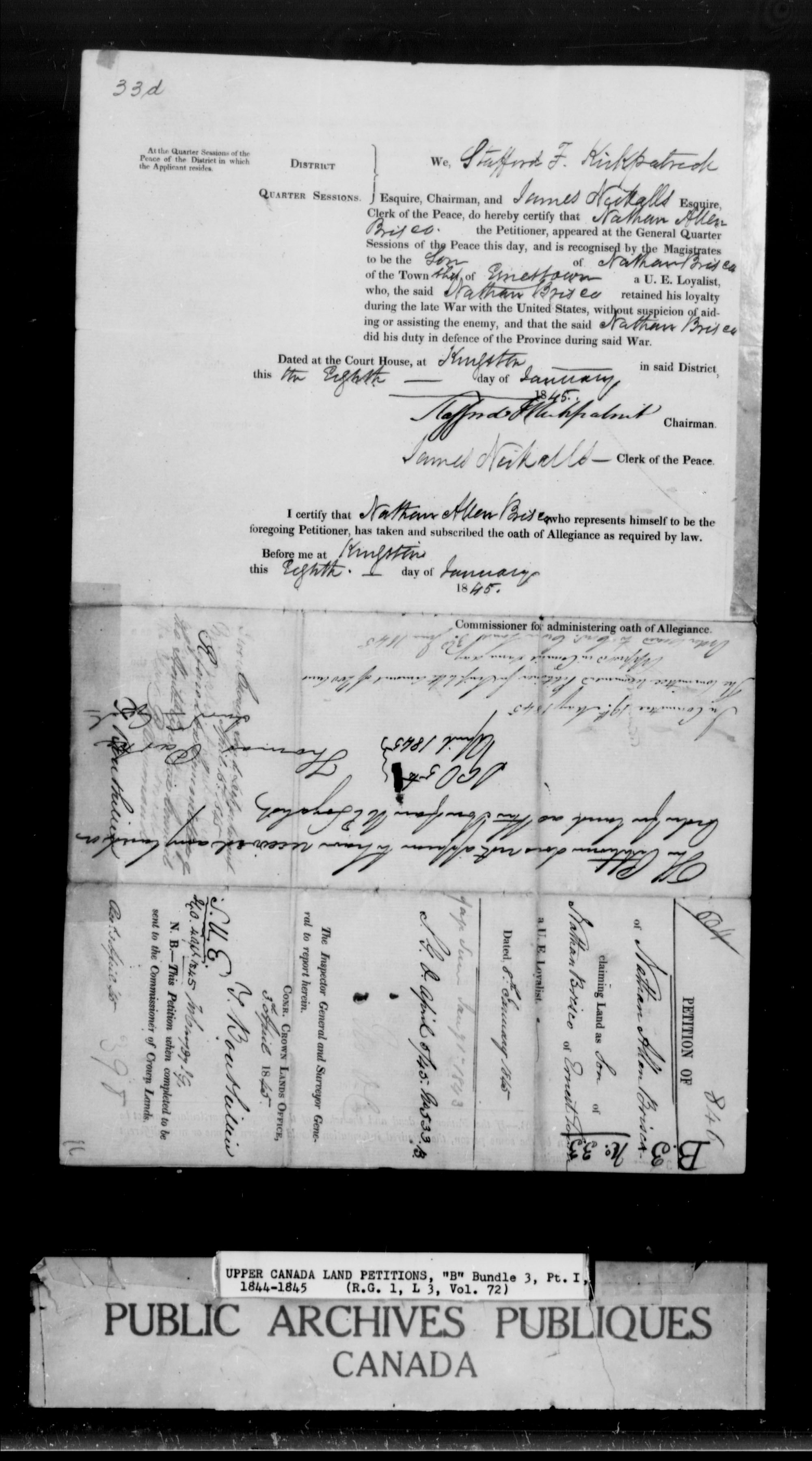 Title: Upper Canada Land Petitions (1763-1865) - Mikan Number: 205131 - Microform: c-1637