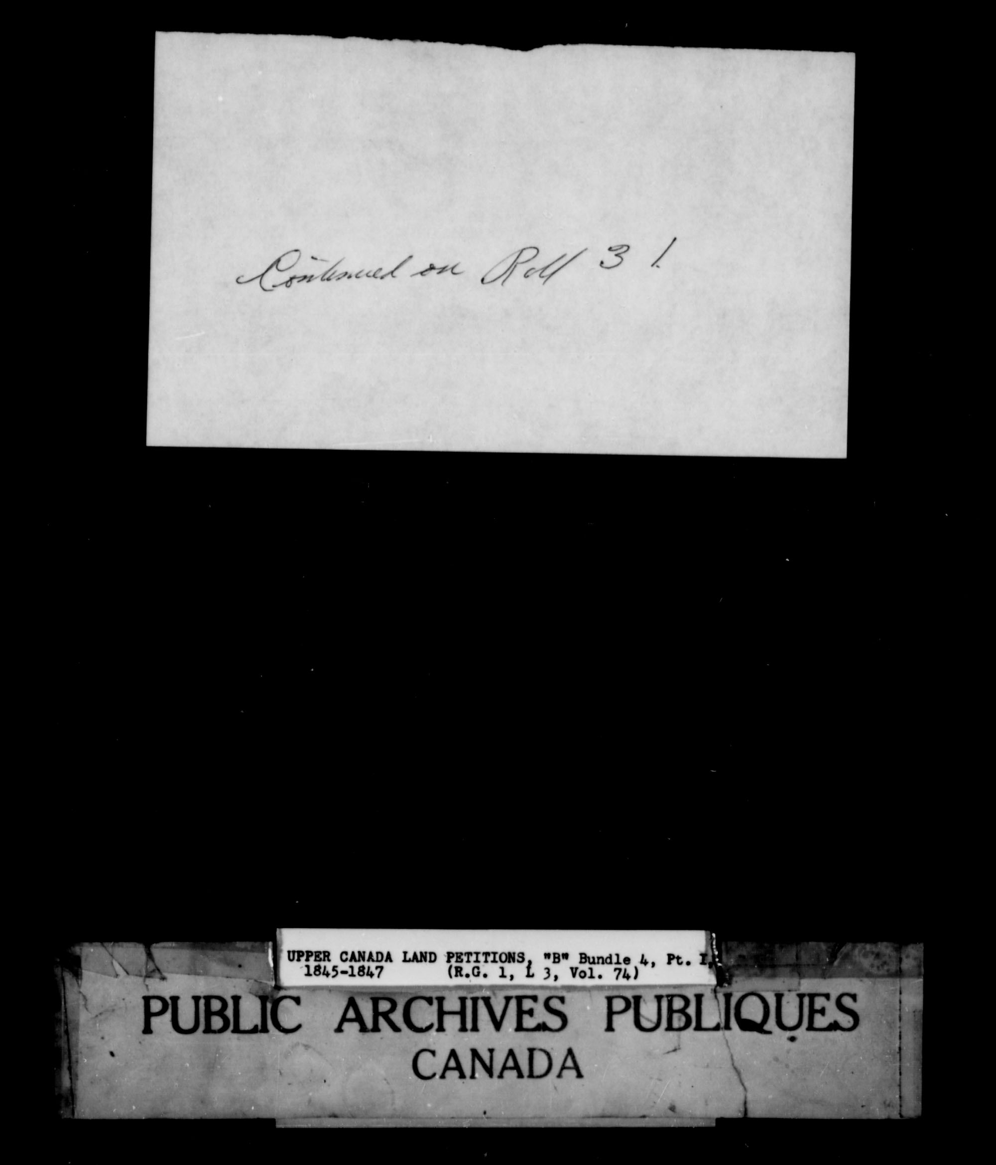 Title: Upper Canada Land Petitions (1763-1865) - Mikan Number: 205131 - Microform: c-1638