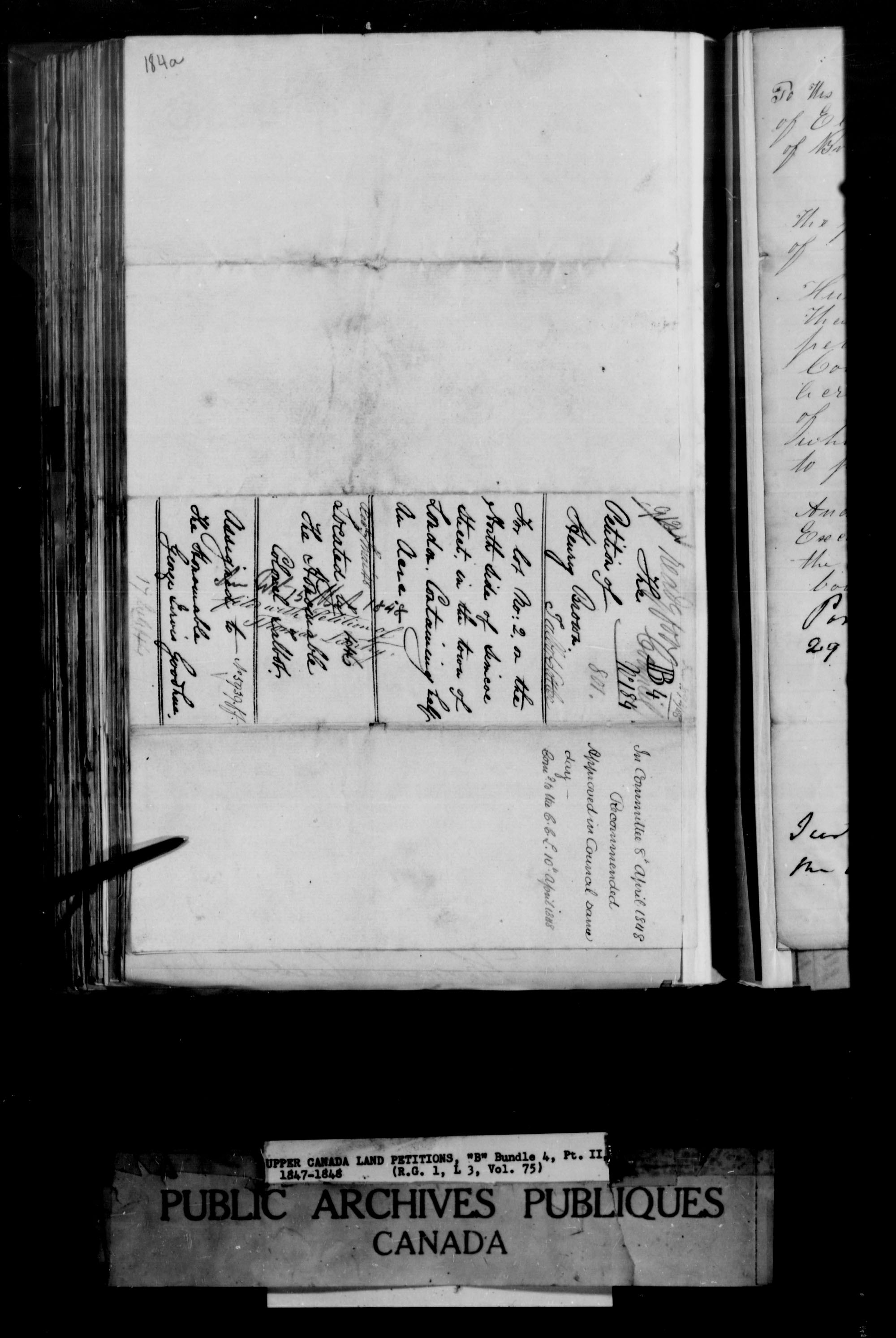 Title: Upper Canada Land Petitions (1763-1865) - Mikan Number: 205131 - Microform: c-1639