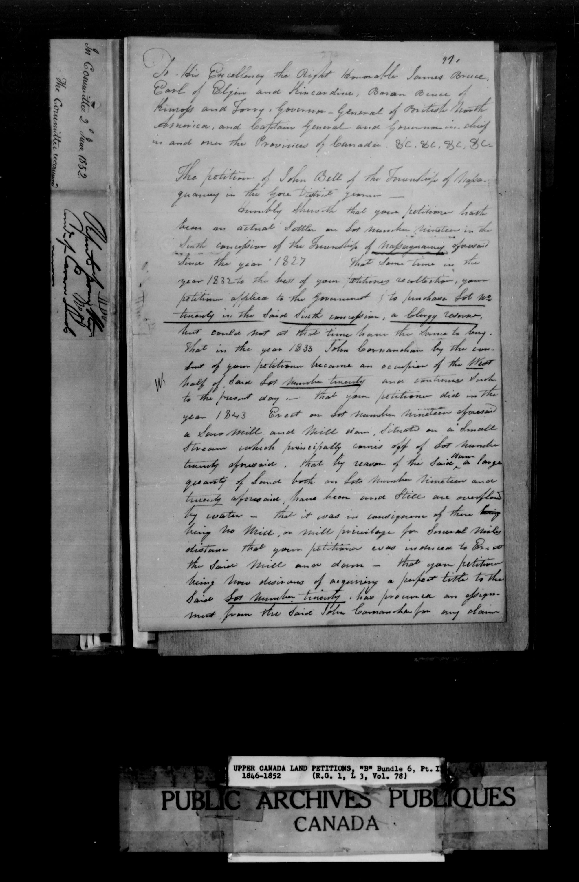 Title: Upper Canada Land Petitions (1763-1865) - Mikan Number: 205131 - Microform: c-1642