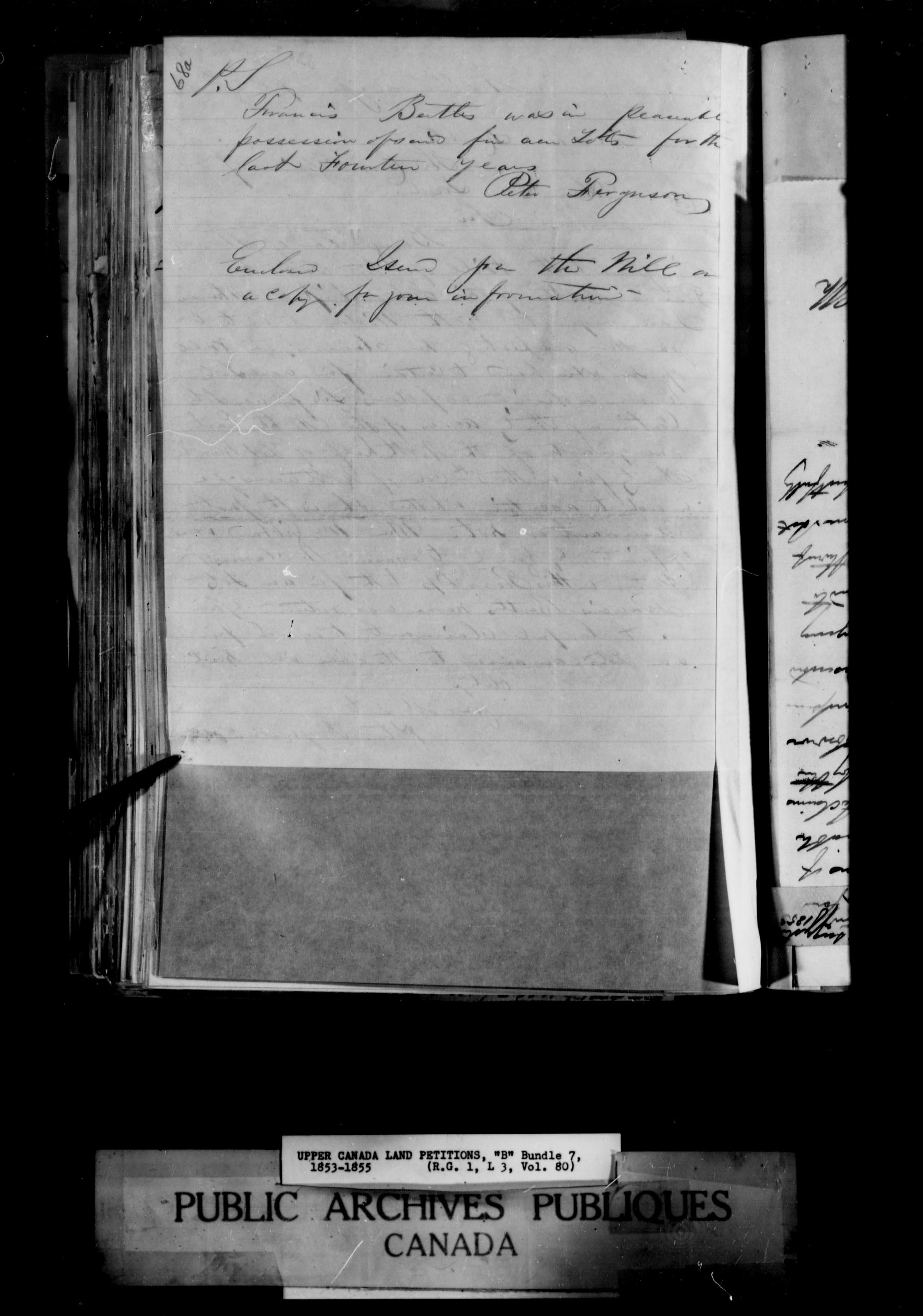 Title: Upper Canada Land Petitions (1763-1865) - Mikan Number: 205131 - Microform: c-1643