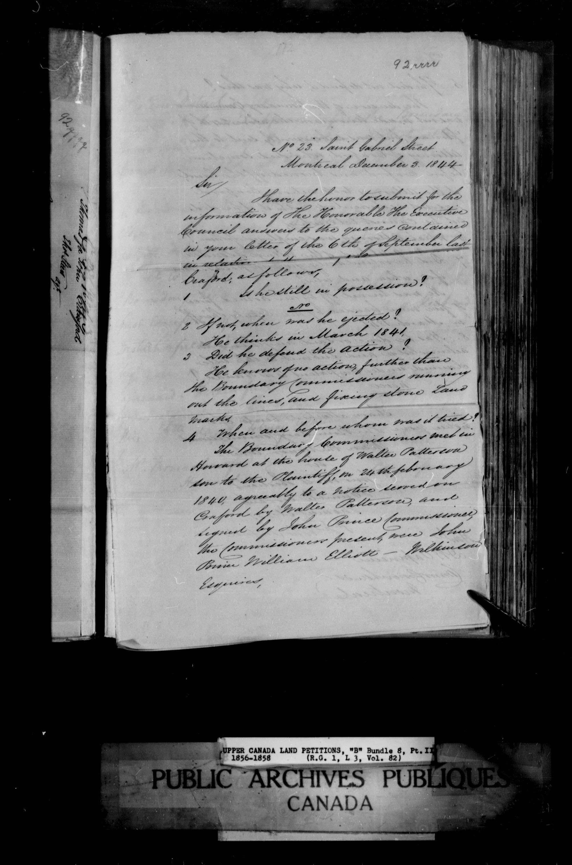 Title: Upper Canada Land Petitions (1763-1865) - Mikan Number: 205131 - Microform: c-1644