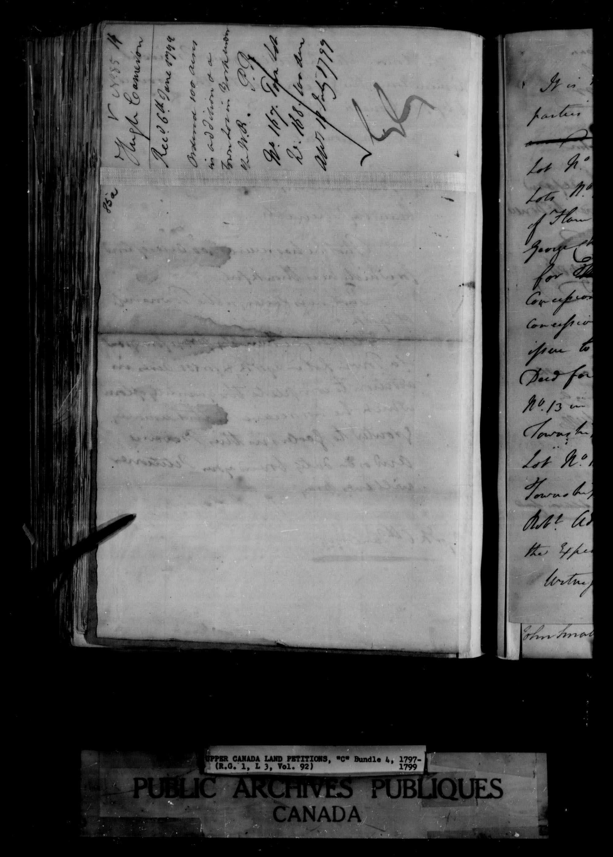 Title: Upper Canada Land Petitions (1763-1865) - Mikan Number: 205131 - Microform: c-1648