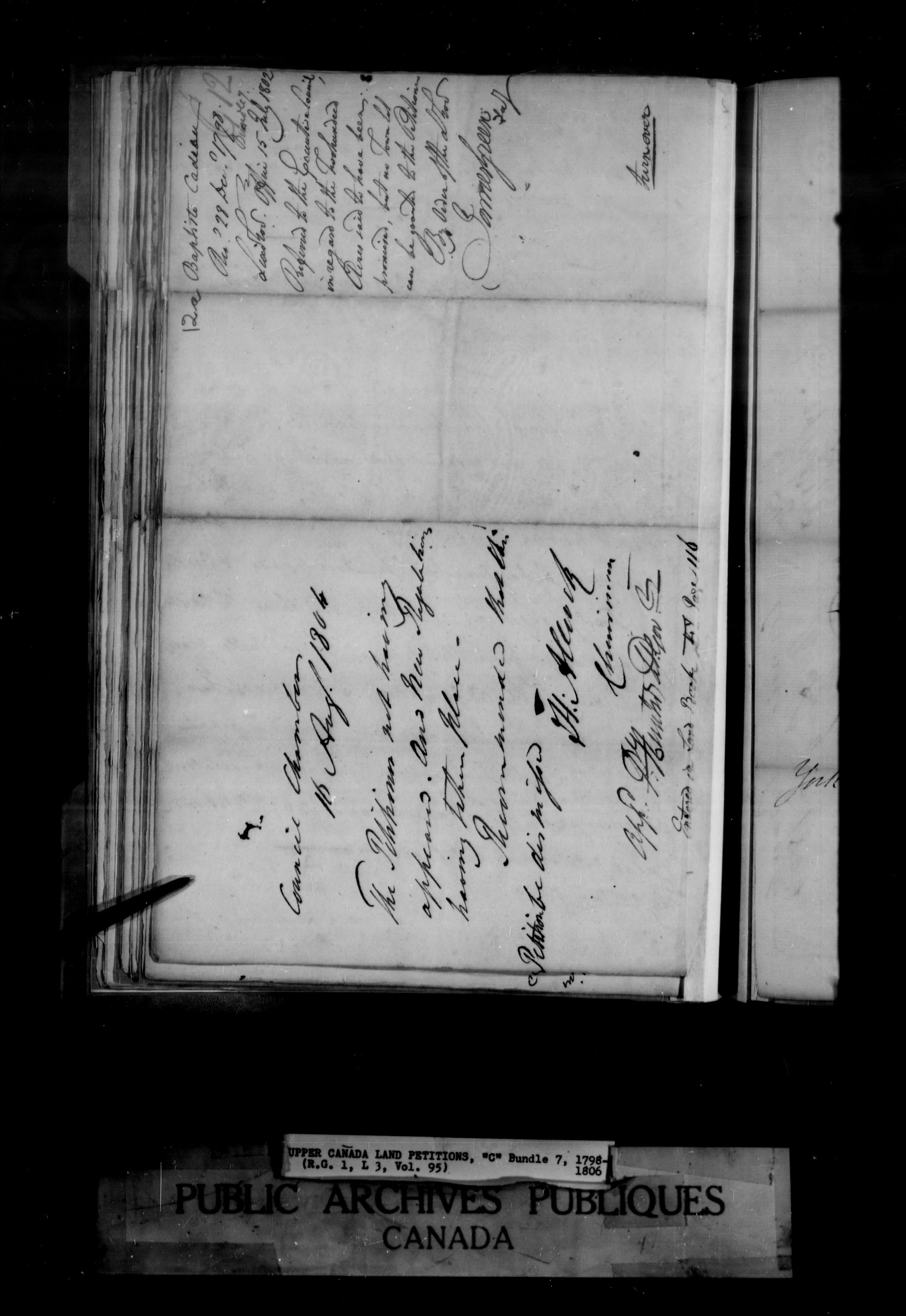 Title: Upper Canada Land Petitions (1763-1865) - Mikan Number: 205131 - Microform: c-1649