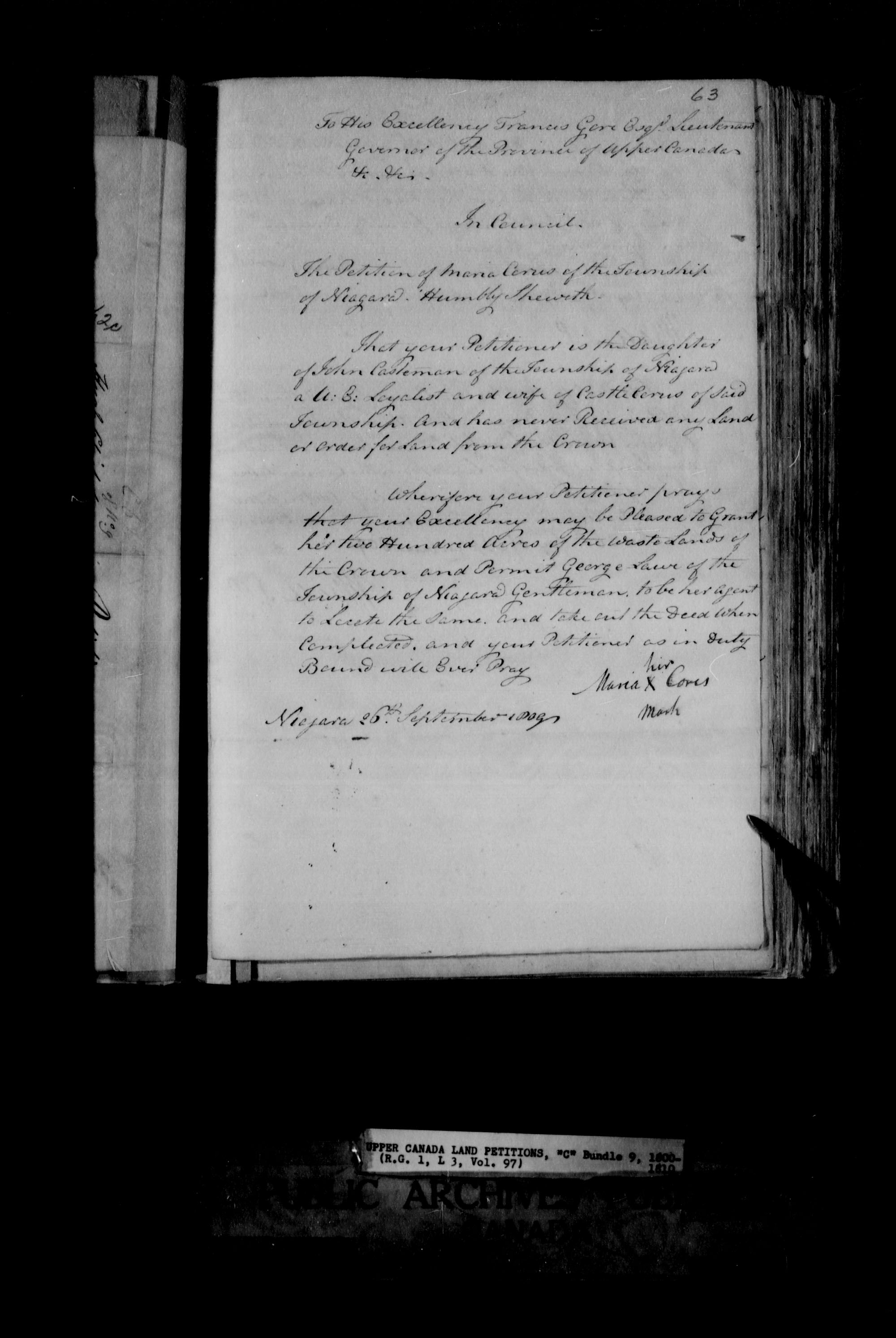 Title: Upper Canada Land Petitions (1763-1865) - Mikan Number: 205131 - Microform: c-1651