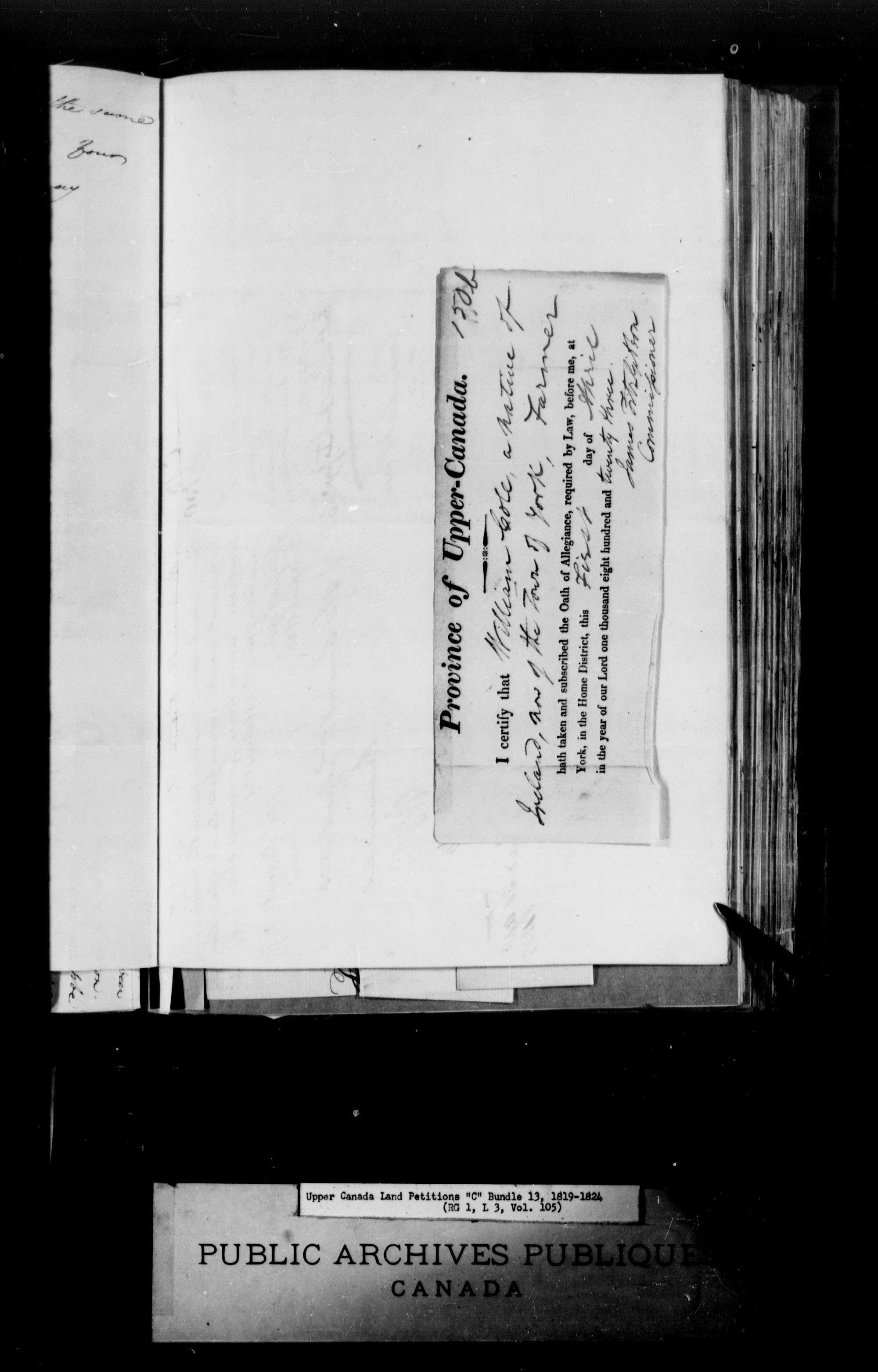 Title: Upper Canada Land Petitions (1763-1865) - Mikan Number: 205131 - Microform: c-1723