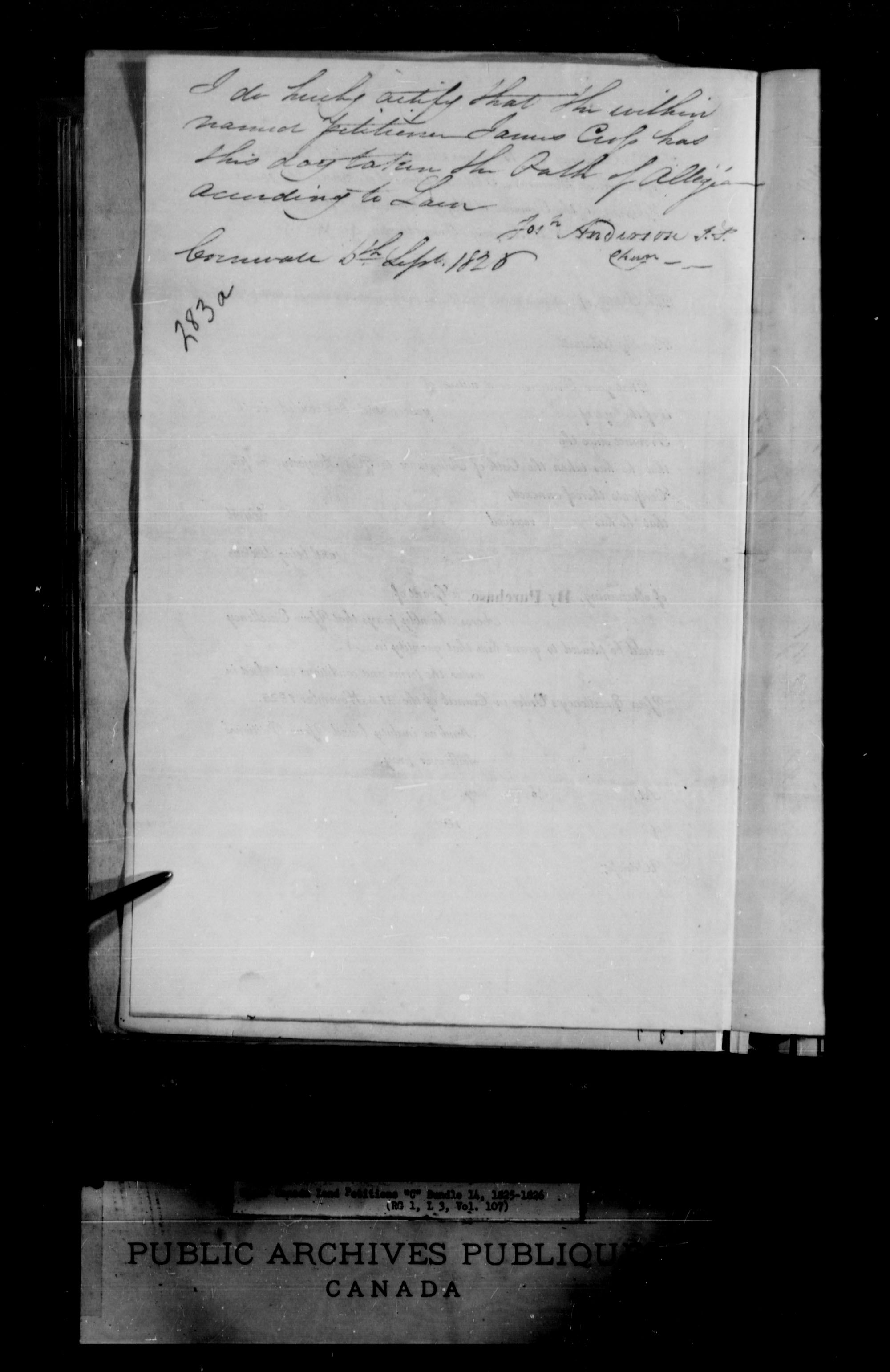 Title: Upper Canada Land Petitions (1763-1865) - Mikan Number: 205131 - Microform: c-1724