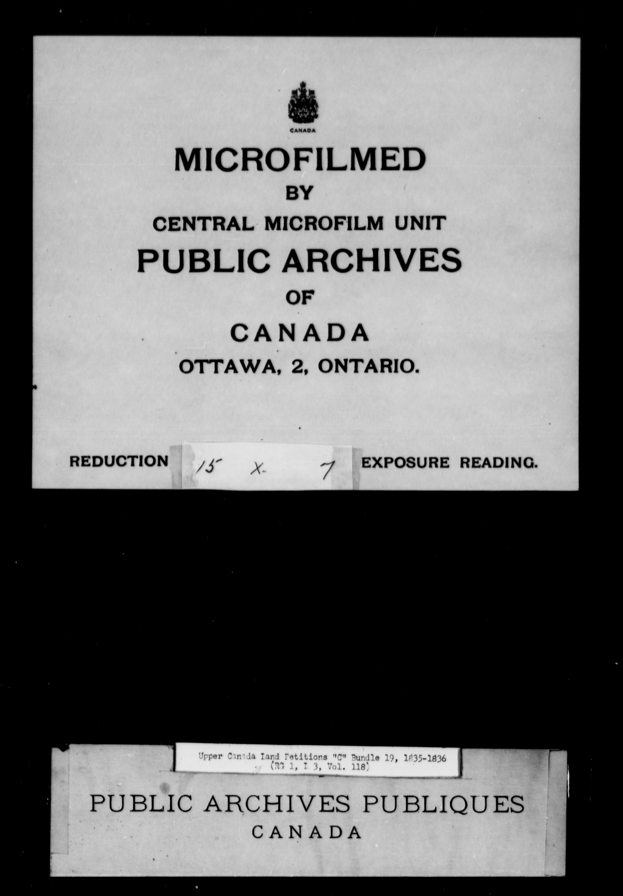 Title: Upper Canada Land Petitions (1763-1865) - Mikan Number: 205131 - Microform: c-1729