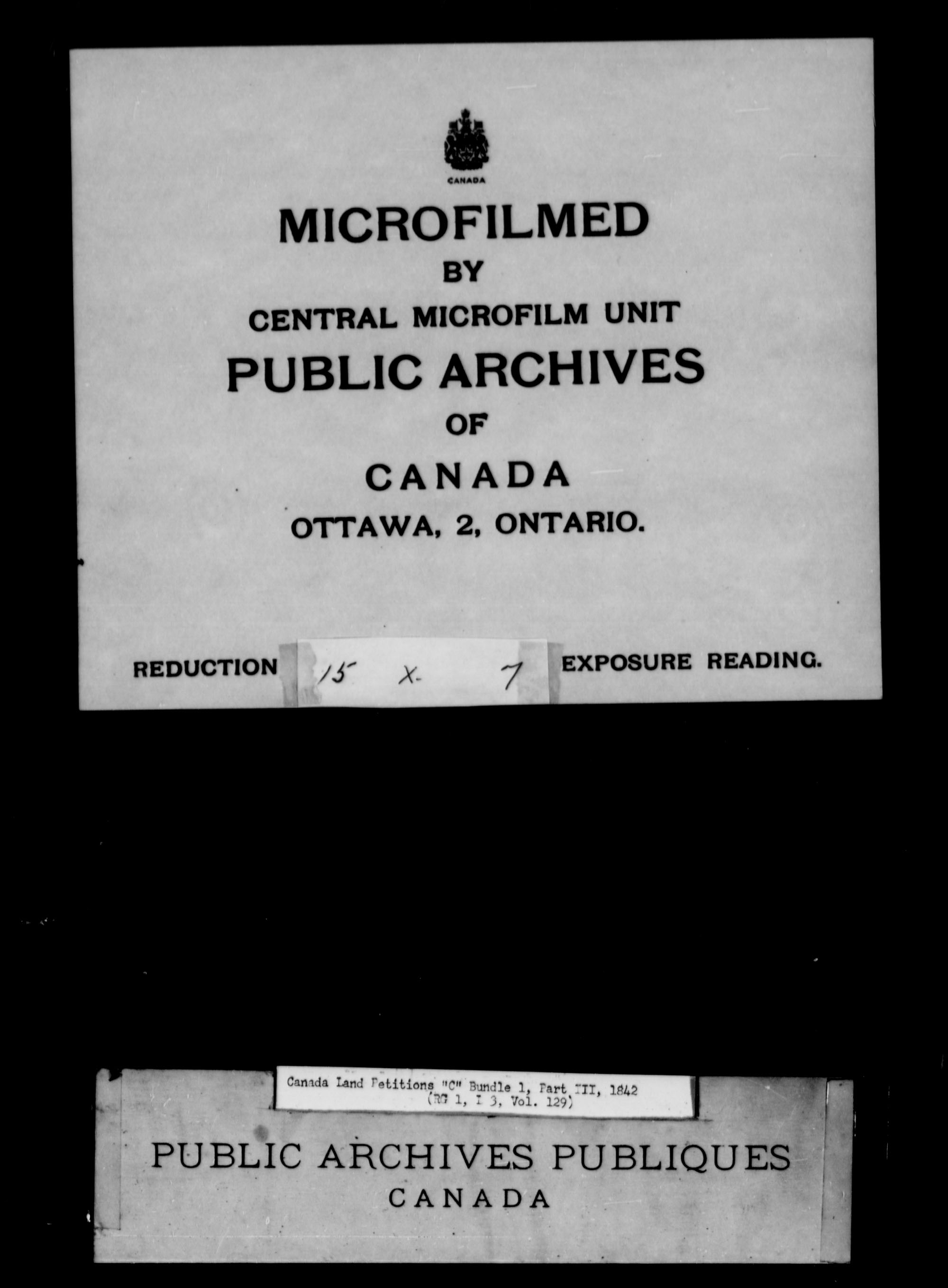 Title: Upper Canada Land Petitions (1763-1865) - Mikan Number: 205131 - Microform: c-1733