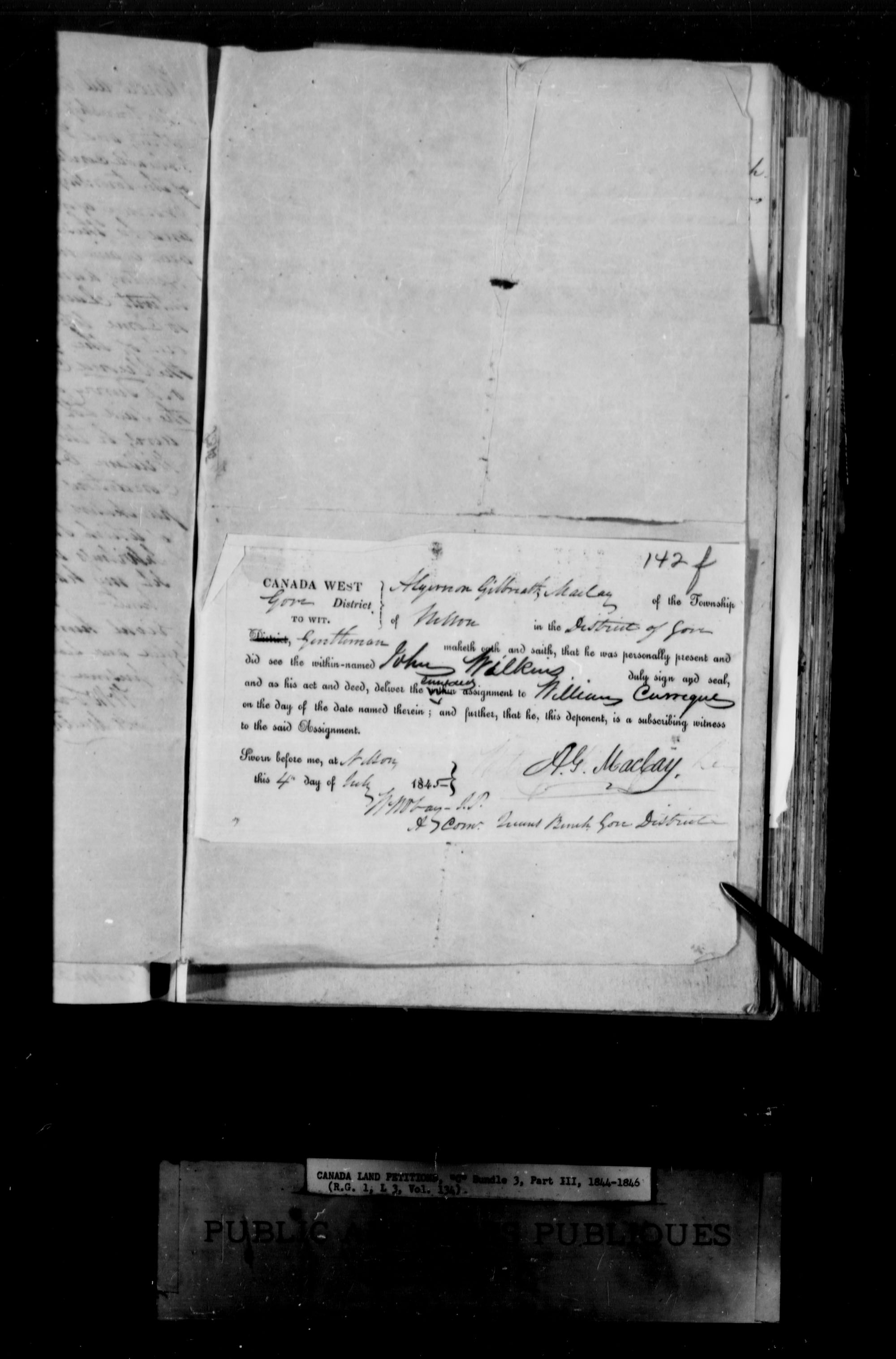 Title: Upper Canada Land Petitions (1763-1865) - Mikan Number: 205131 - Microform: c-1734