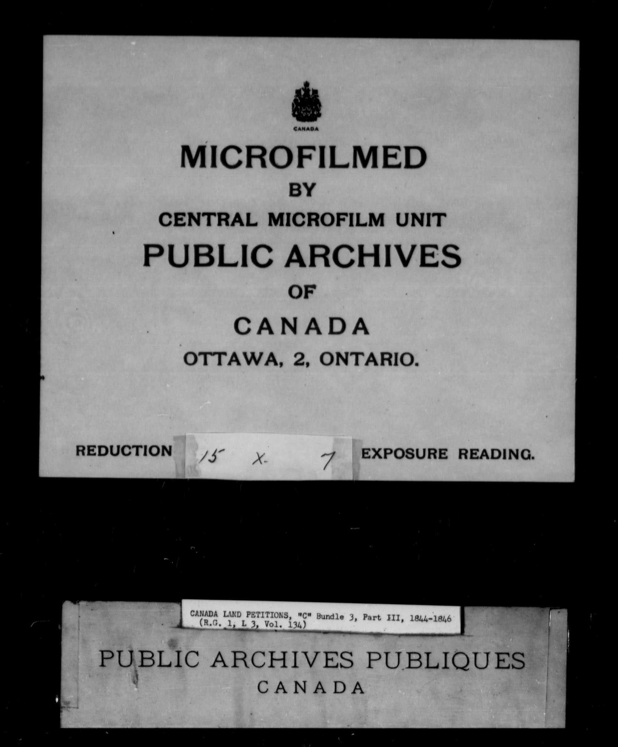 Title: Upper Canada Land Petitions (1763-1865) - Mikan Number: 205131 - Microform: c-1735