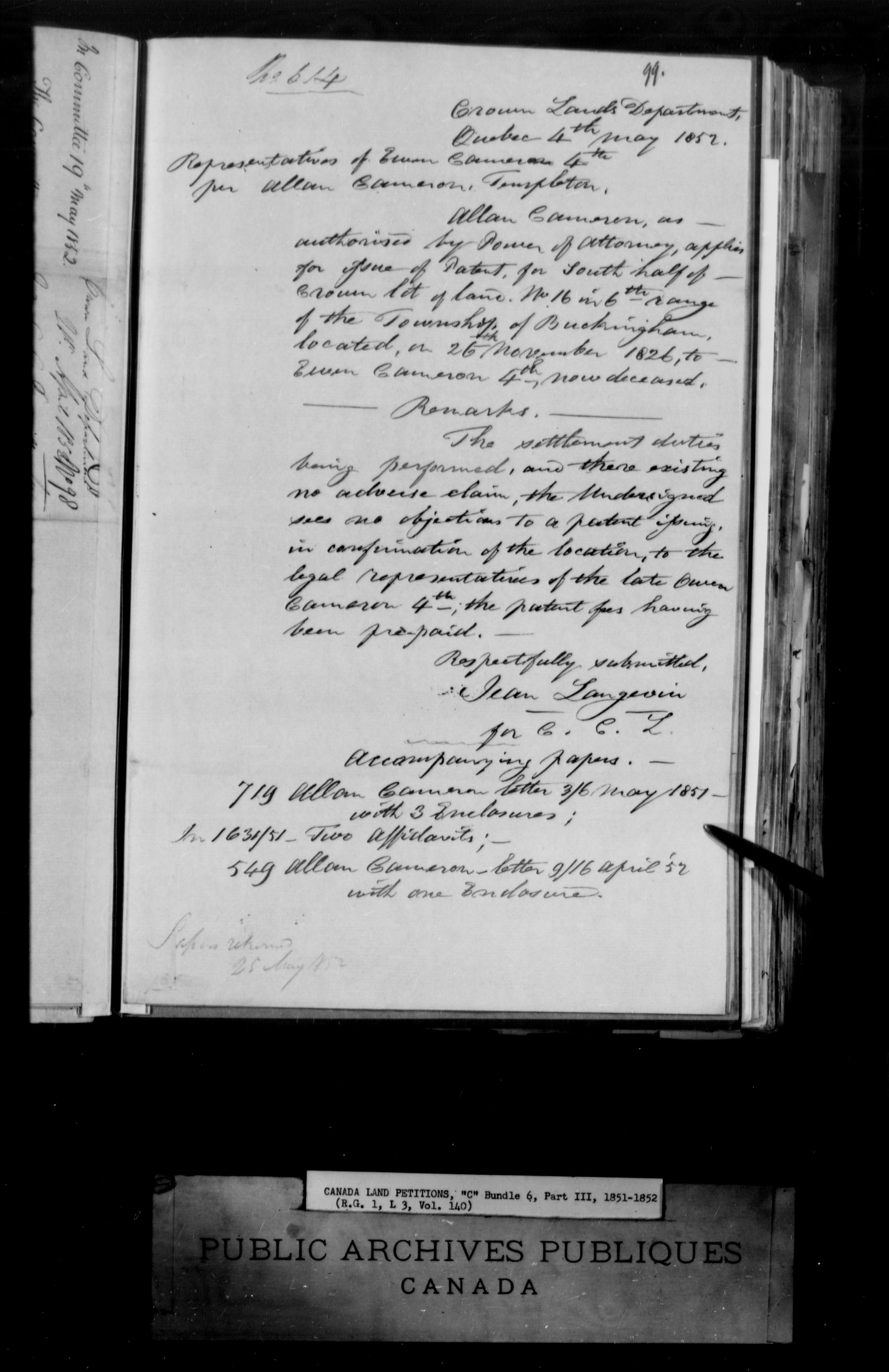 Title: Upper Canada Land Petitions (1763-1865) - Mikan Number: 205131 - Microform: c-1737