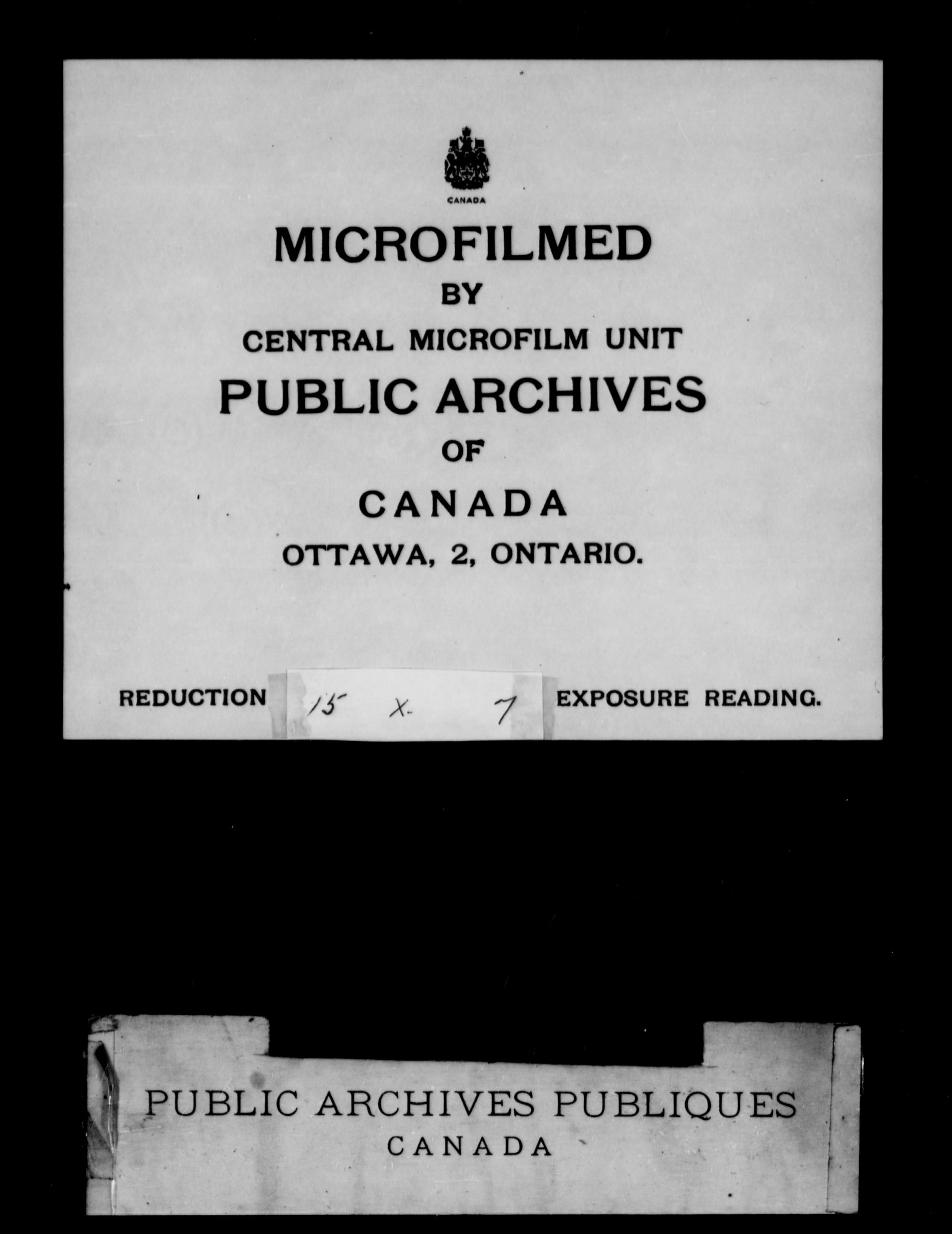 Title: Upper Canada Land Petitions (1763-1865) - Mikan Number: 205131 - Microform: c-1739