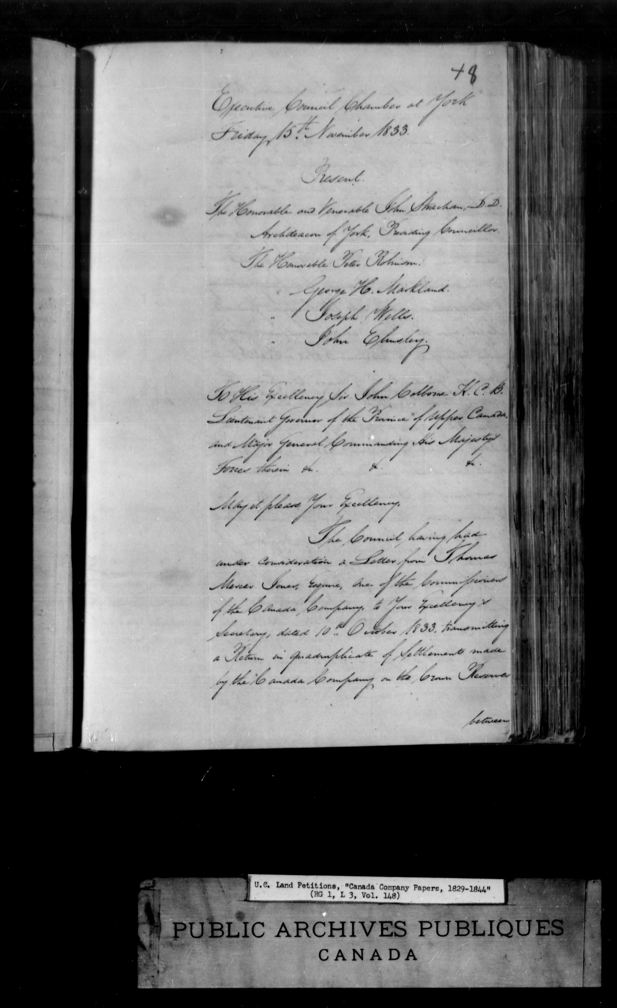 Title: Upper Canada Land Petitions (1763-1865) - Mikan Number: 205131 - Microform: c-1742