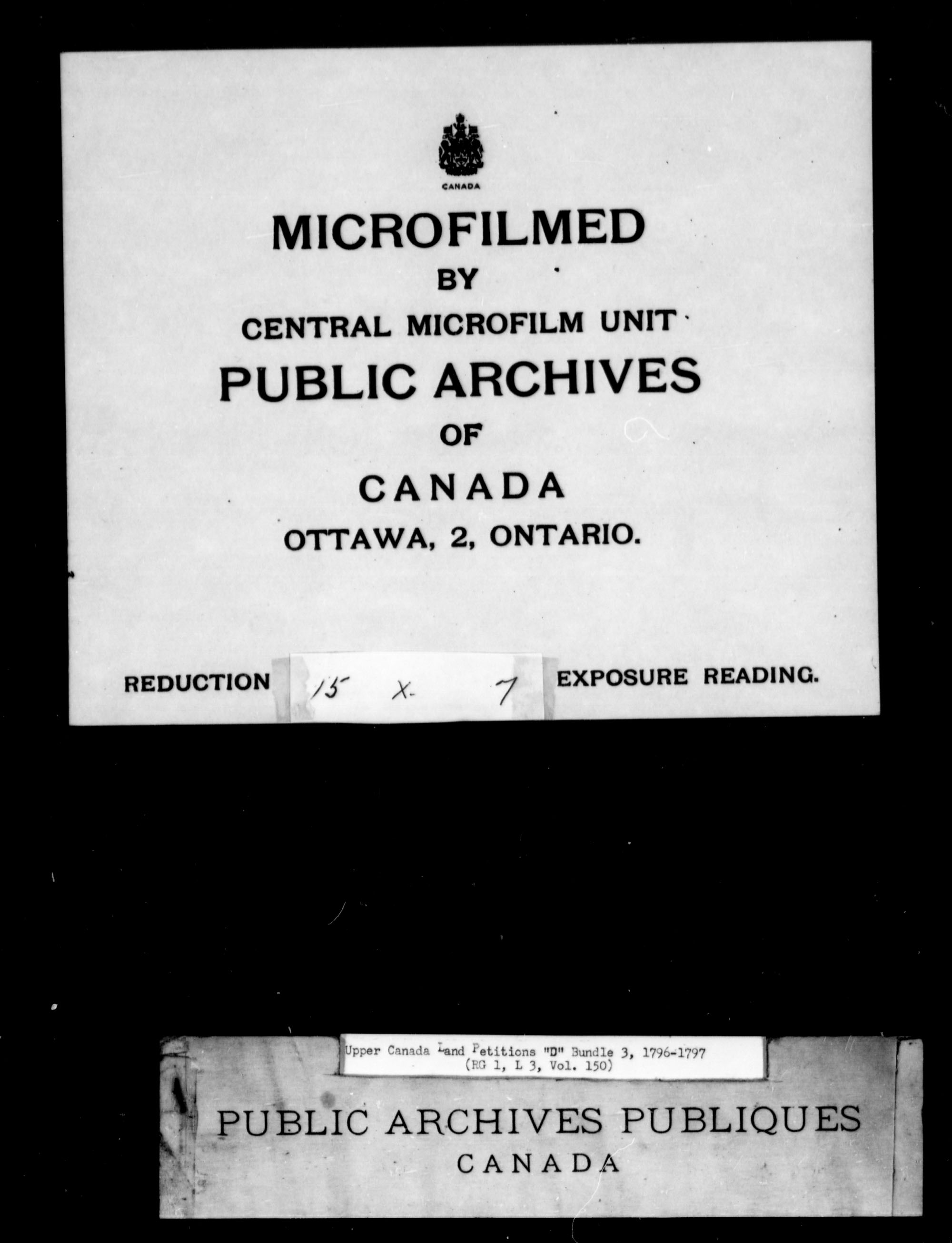 Title: Upper Canada Land Petitions (1763-1865) - Mikan Number: 205131 - Microform: c-1743