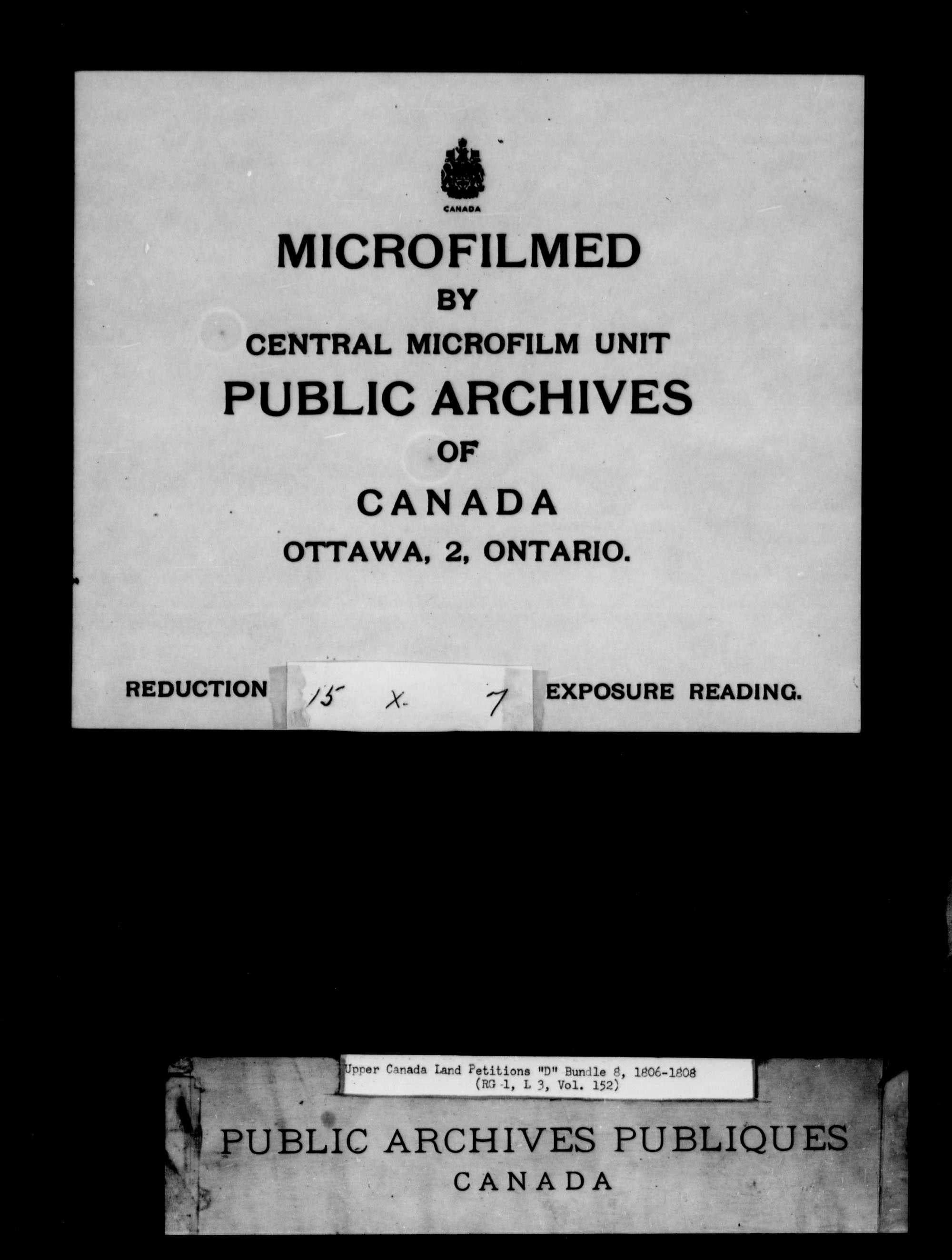 Title: Upper Canada Land Petitions (1763-1865) - Mikan Number: 205131 - Microform: c-1744