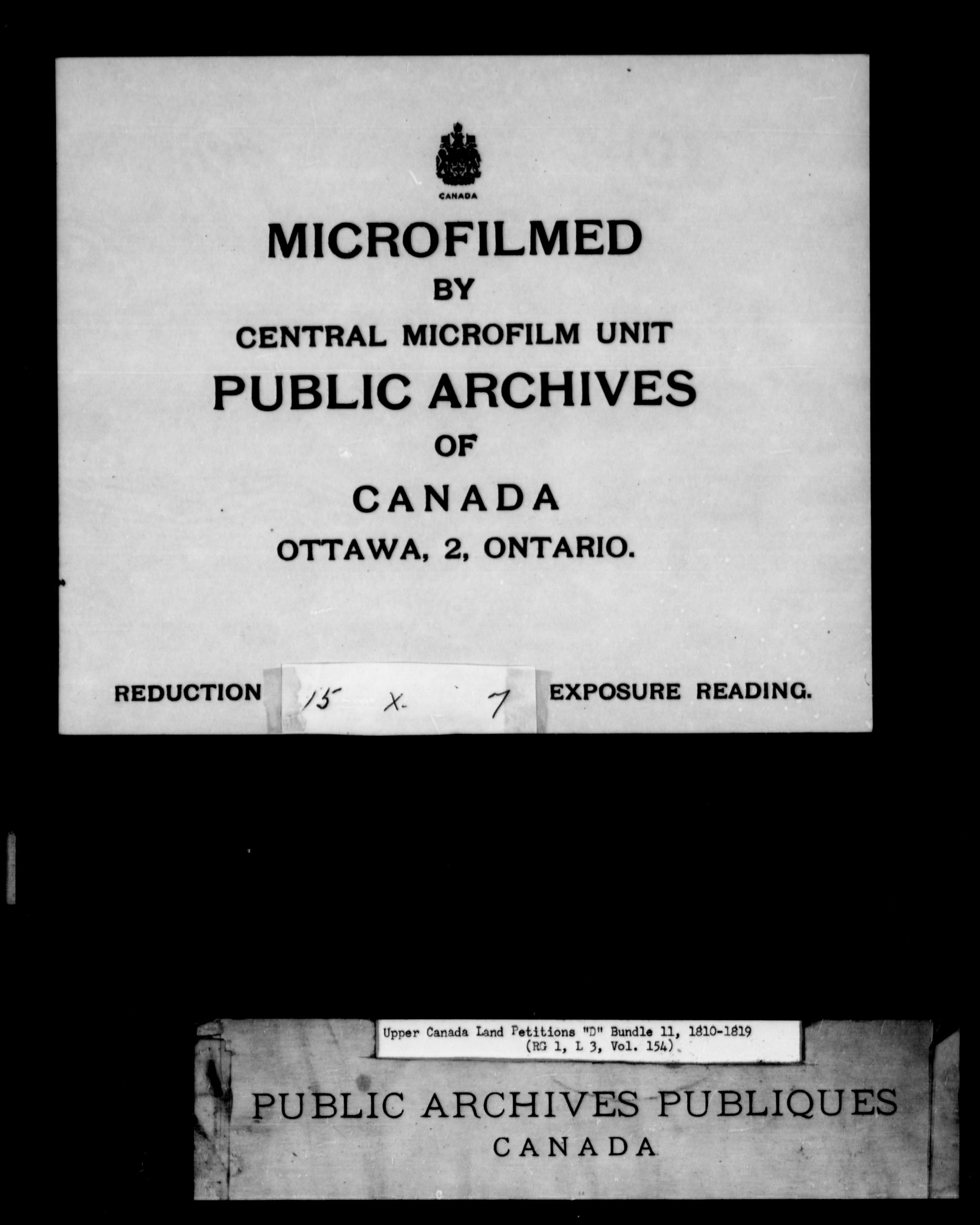 Title: Upper Canada Land Petitions (1763-1865) - Mikan Number: 205131 - Microform: c-1745