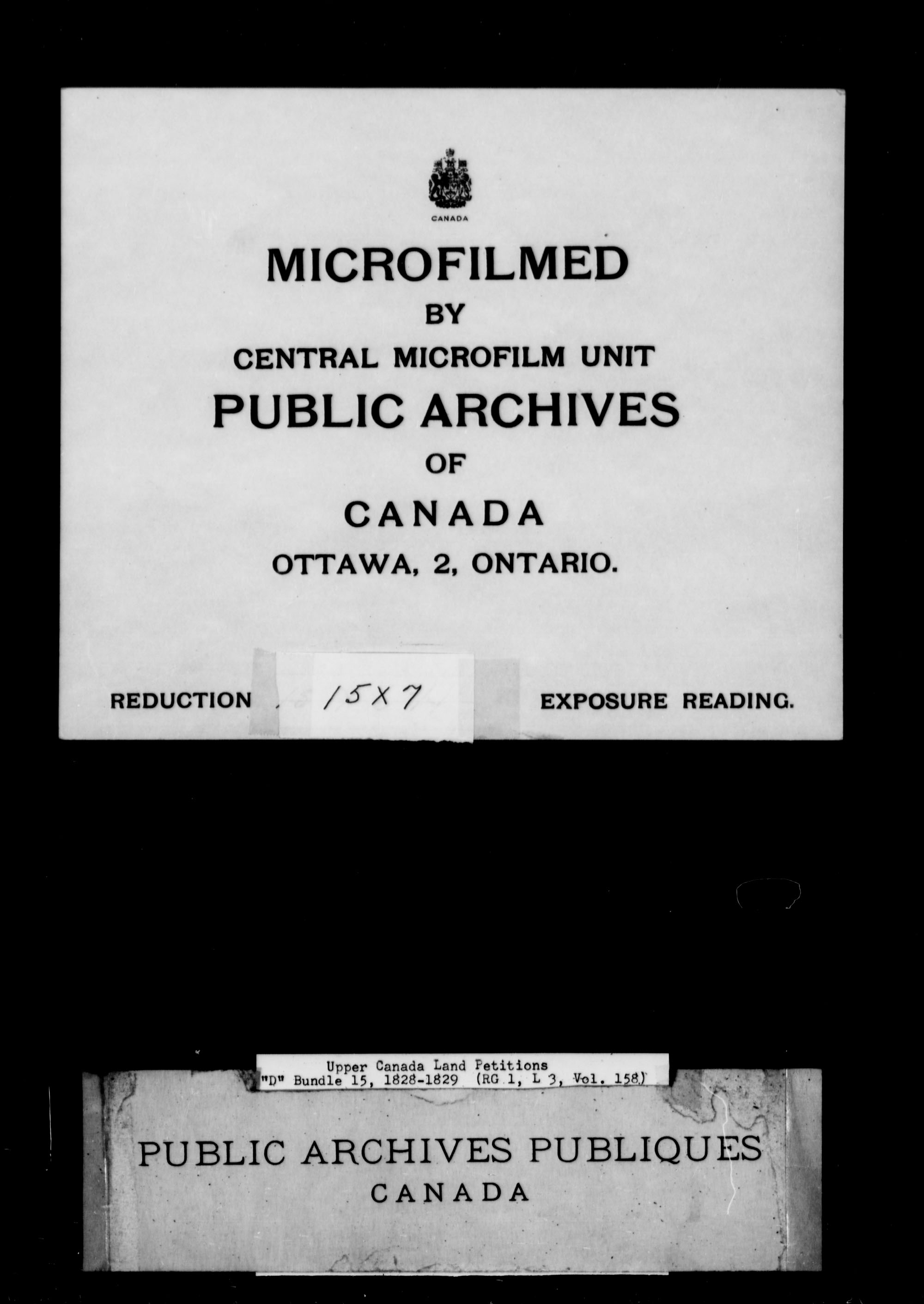 Title: Upper Canada Land Petitions (1763-1865) - Mikan Number: 205131 - Microform: c-1876