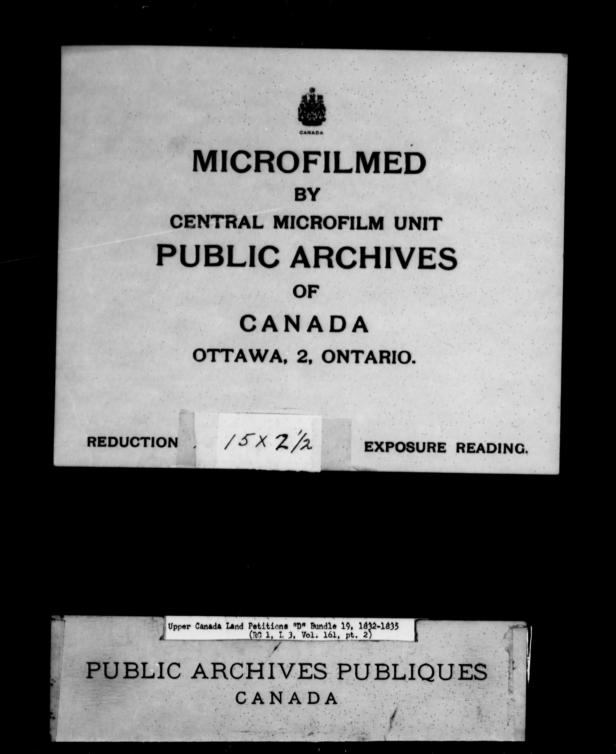 Title: Upper Canada Land Petitions (1763-1865) - Mikan Number: 205131 - Microform: c-1878