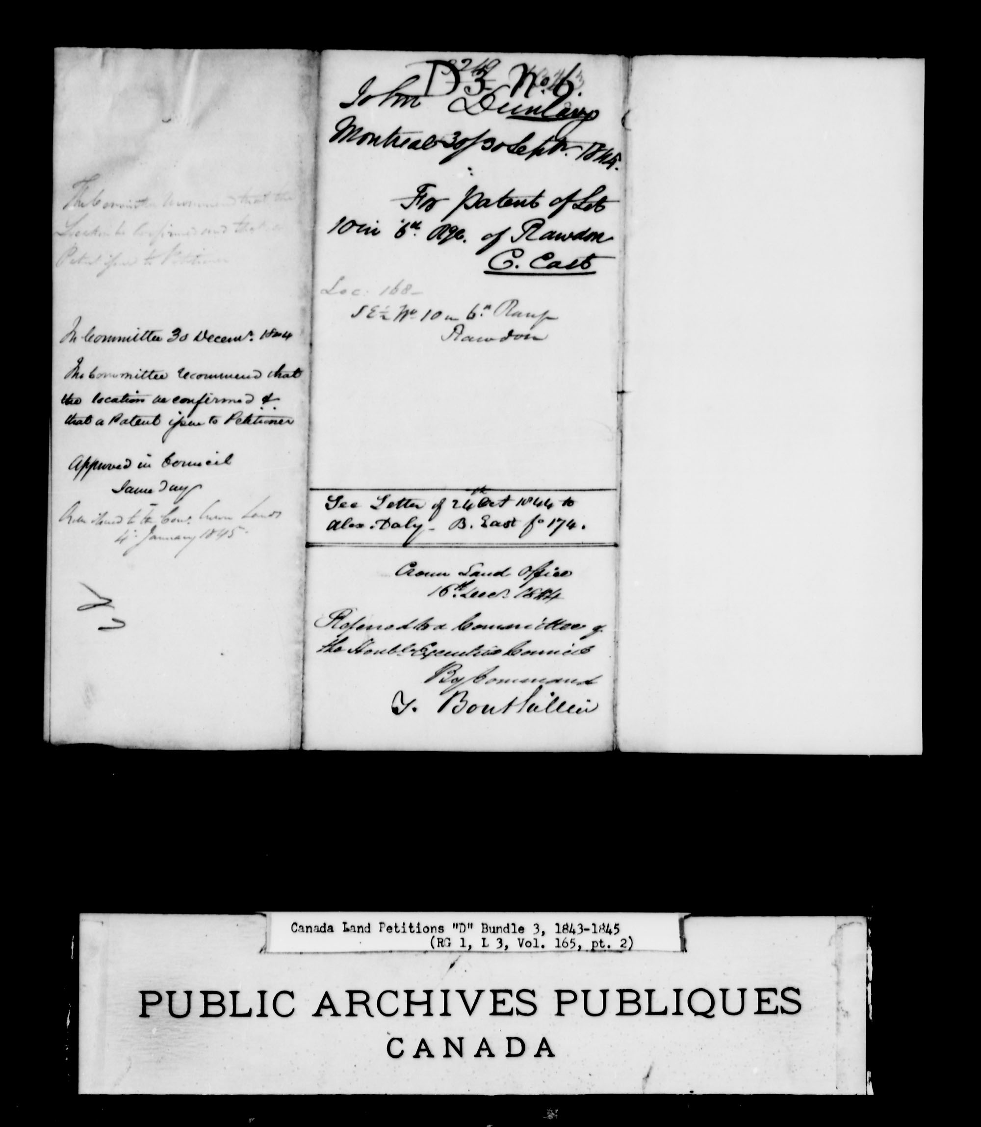 Title: Upper Canada Land Petitions (1763-1865) - Mikan Number: 205131 - Microform: c-1880