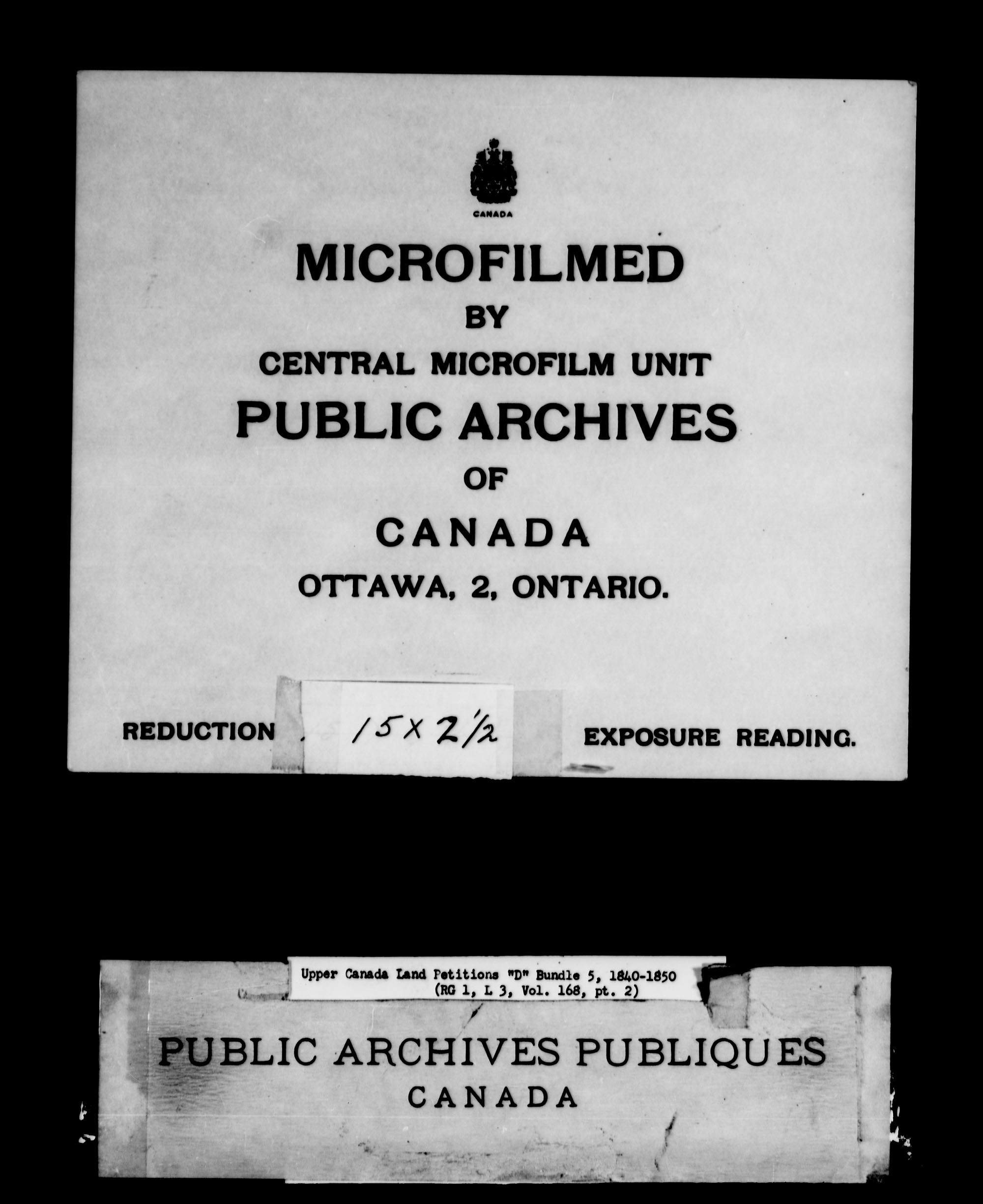 Title: Upper Canada Land Petitions (1763-1865) - Mikan Number: 205131 - Microform: c-1883