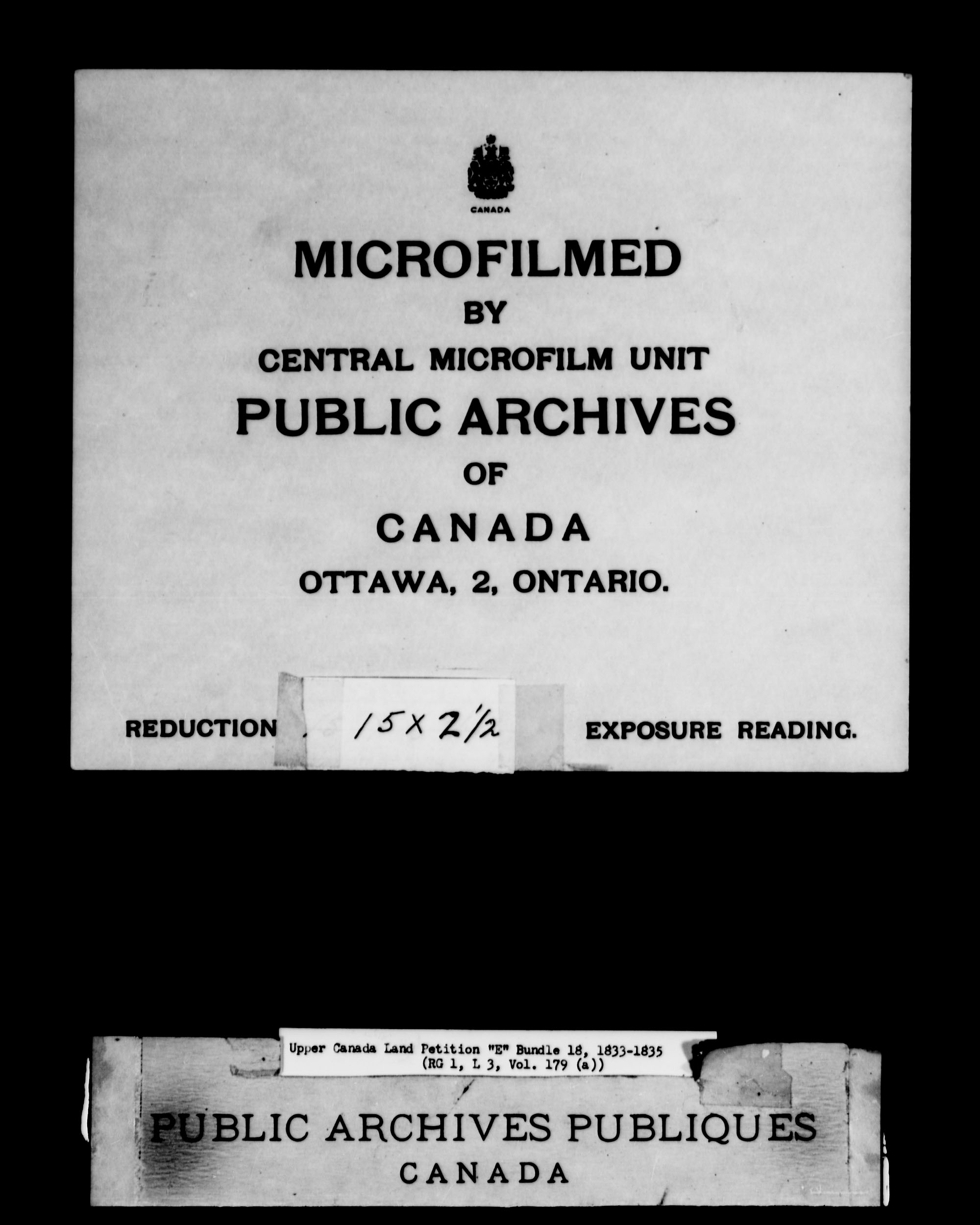 Title: Upper Canada Land Petitions (1763-1865) - Mikan Number: 205131 - Microform: c-1890