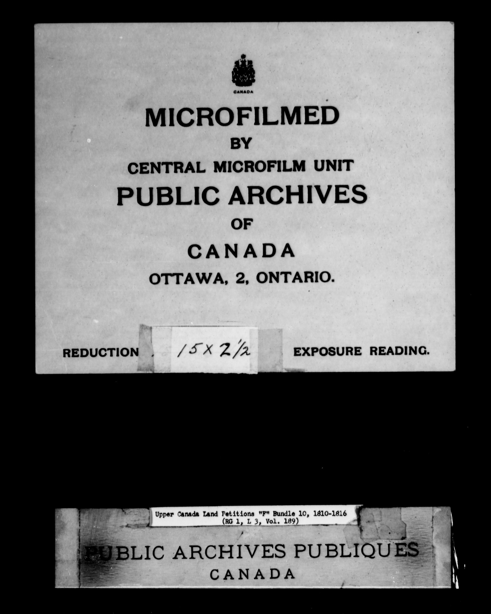 Title: Upper Canada Land Petitions (1763-1865) - Mikan Number: 205131 - Microform: c-1896