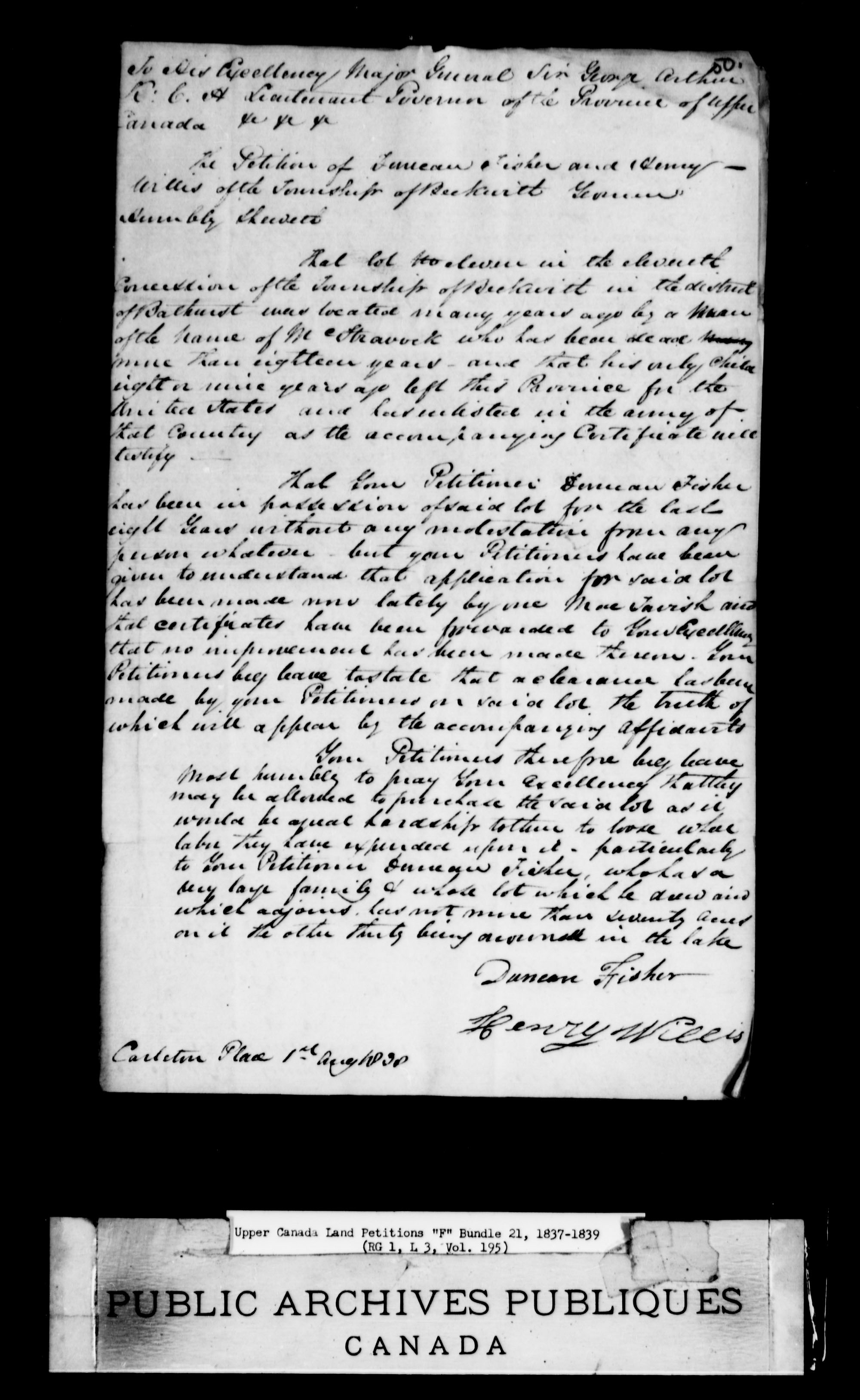 Title: Upper Canada Land Petitions (1763-1865) - Mikan Number: 205131 - Microform: c-1900