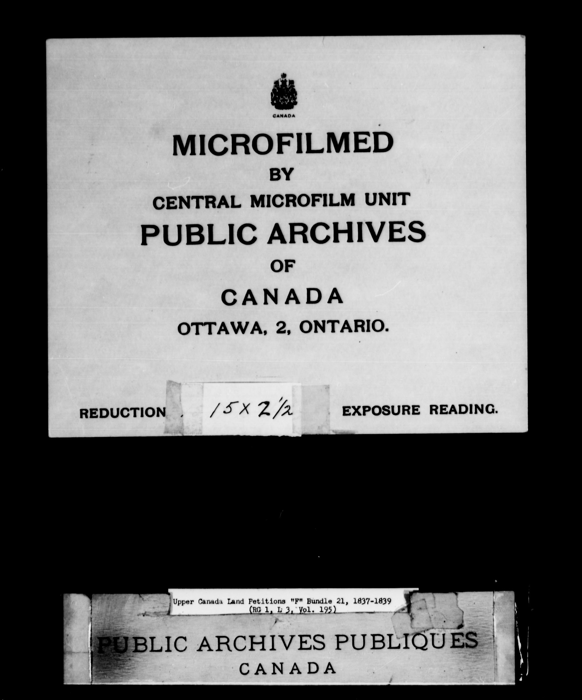 Title: Upper Canada Land Petitions (1763-1865) - Mikan Number: 205131 - Microform: c-2022