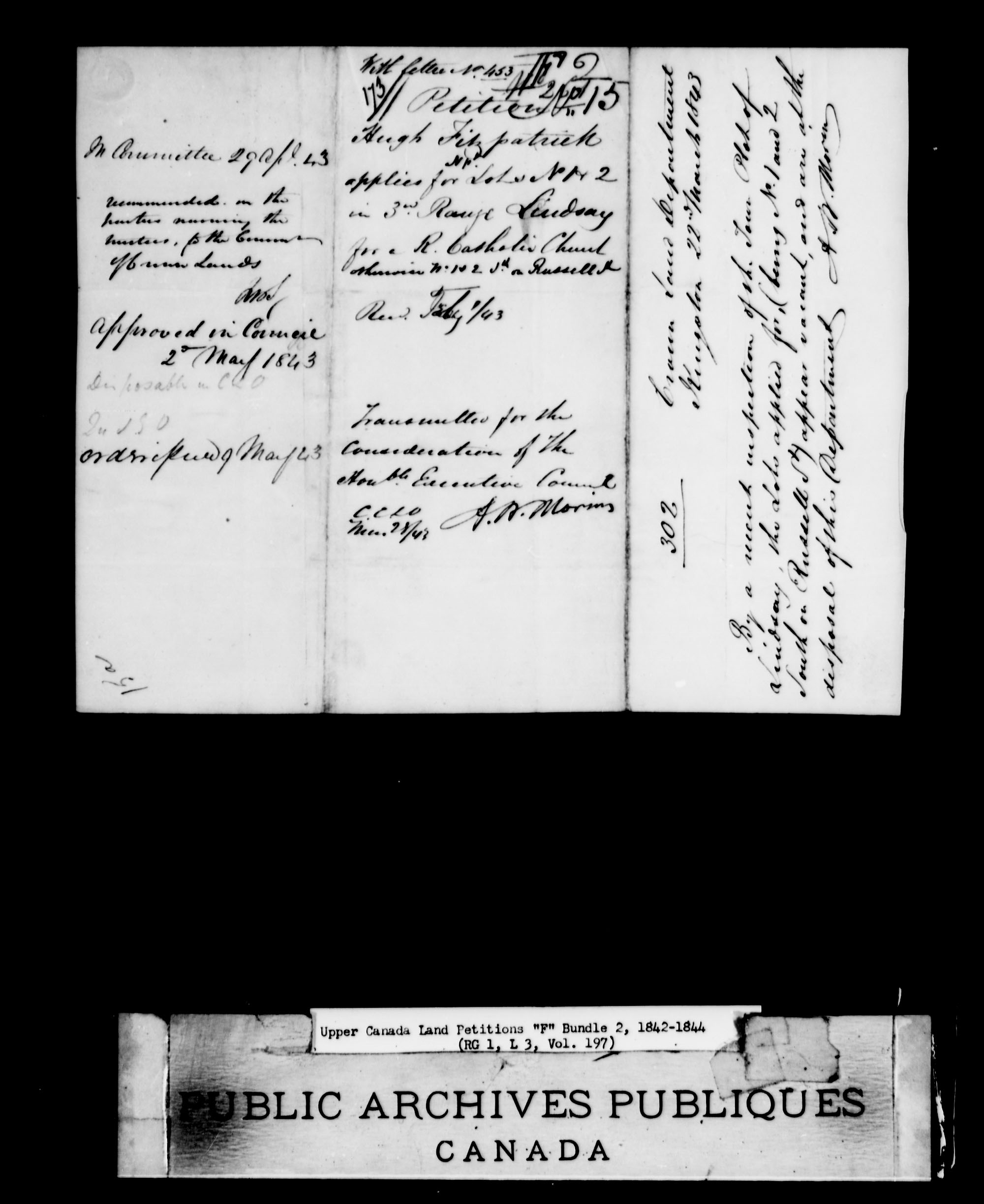 Title: Upper Canada Land Petitions (1763-1865) - Mikan Number: 205131 - Microform: c-2023