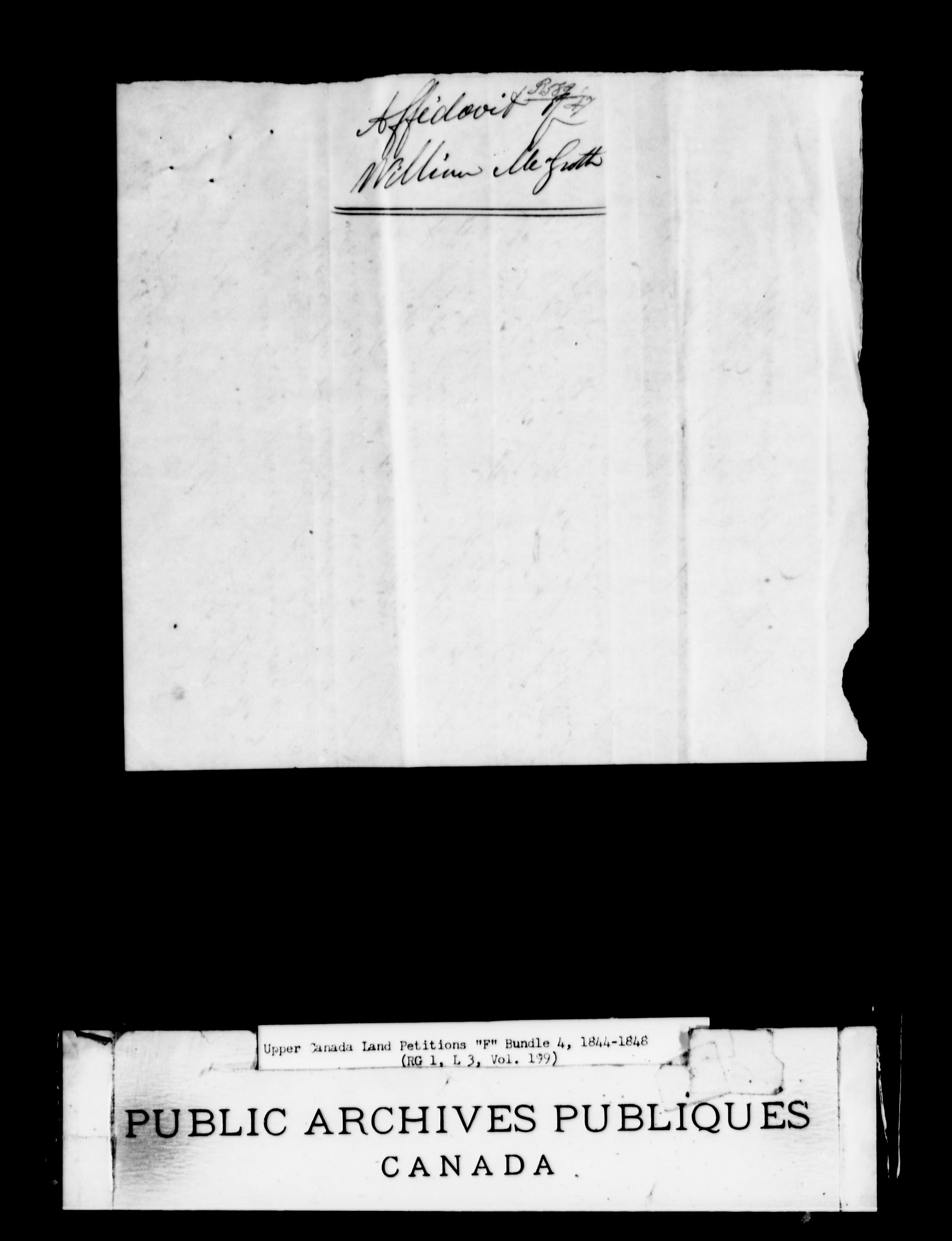 Title: Upper Canada Land Petitions (1763-1865) - Mikan Number: 205131 - Microform: c-2024