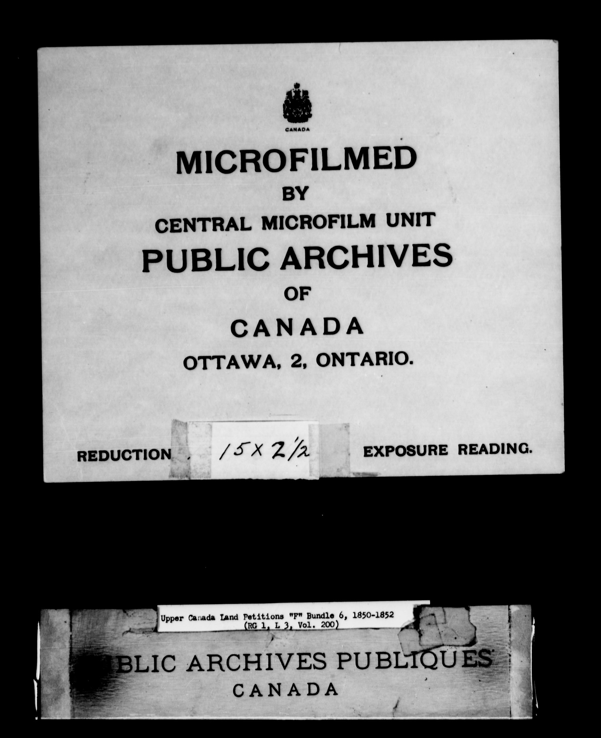 Title: Upper Canada Land Petitions (1763-1865) - Mikan Number: 205131 - Microform: c-2026