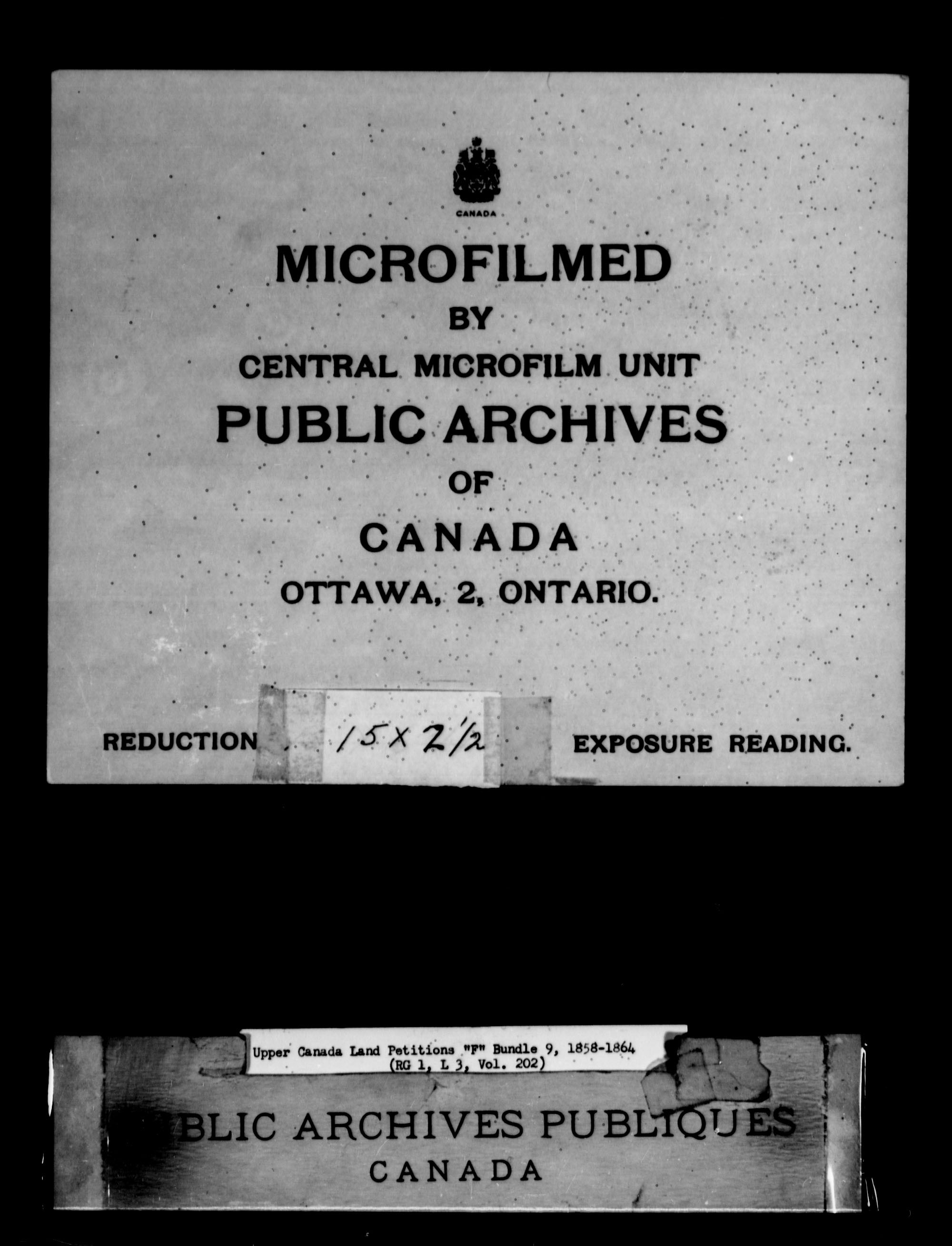 Title: Upper Canada Land Petitions (1763-1865) - Mikan Number: 205131 - Microform: c-2027