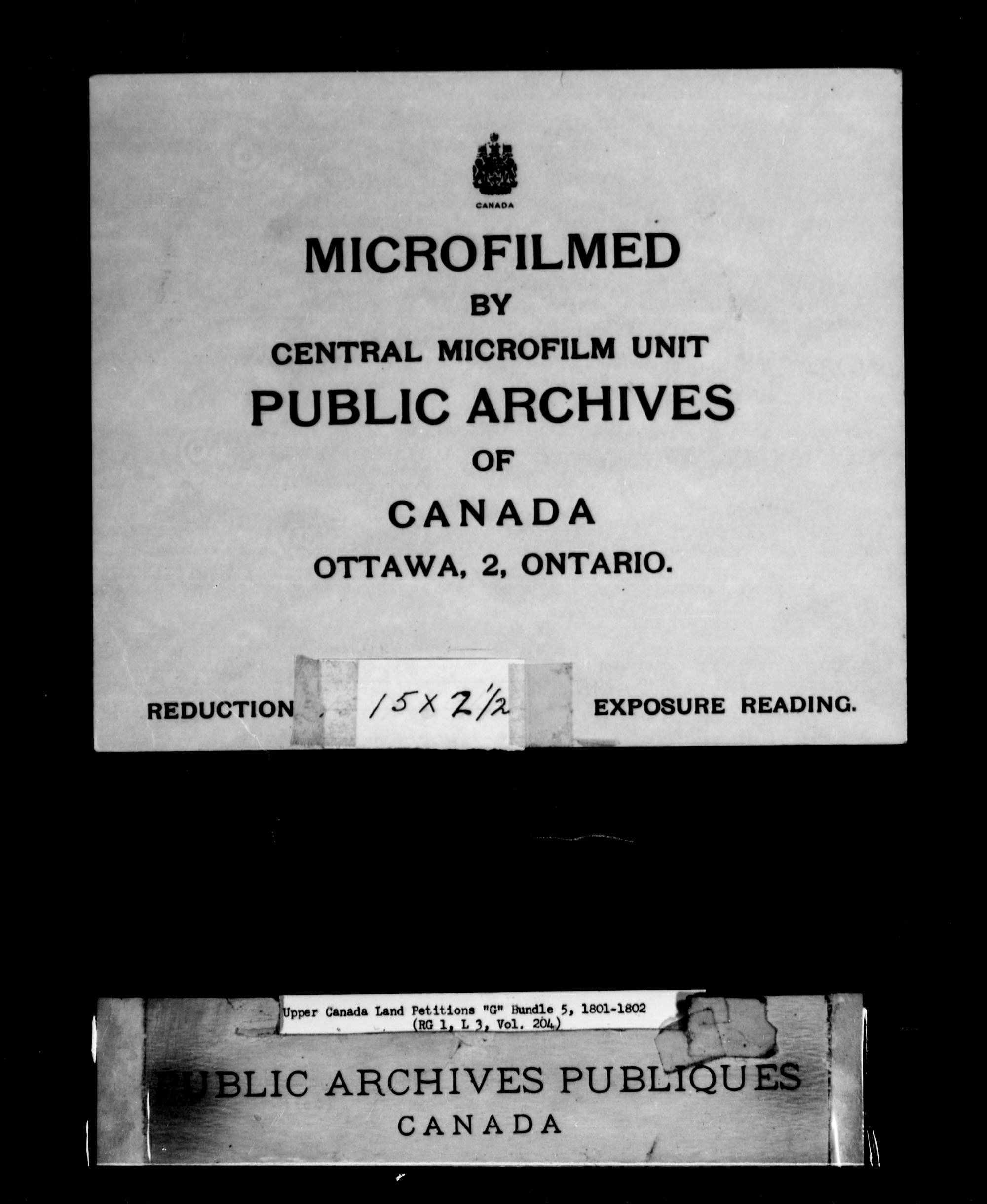 Title: Upper Canada Land Petitions (1763-1865) - Mikan Number: 205131 - Microform: c-2029