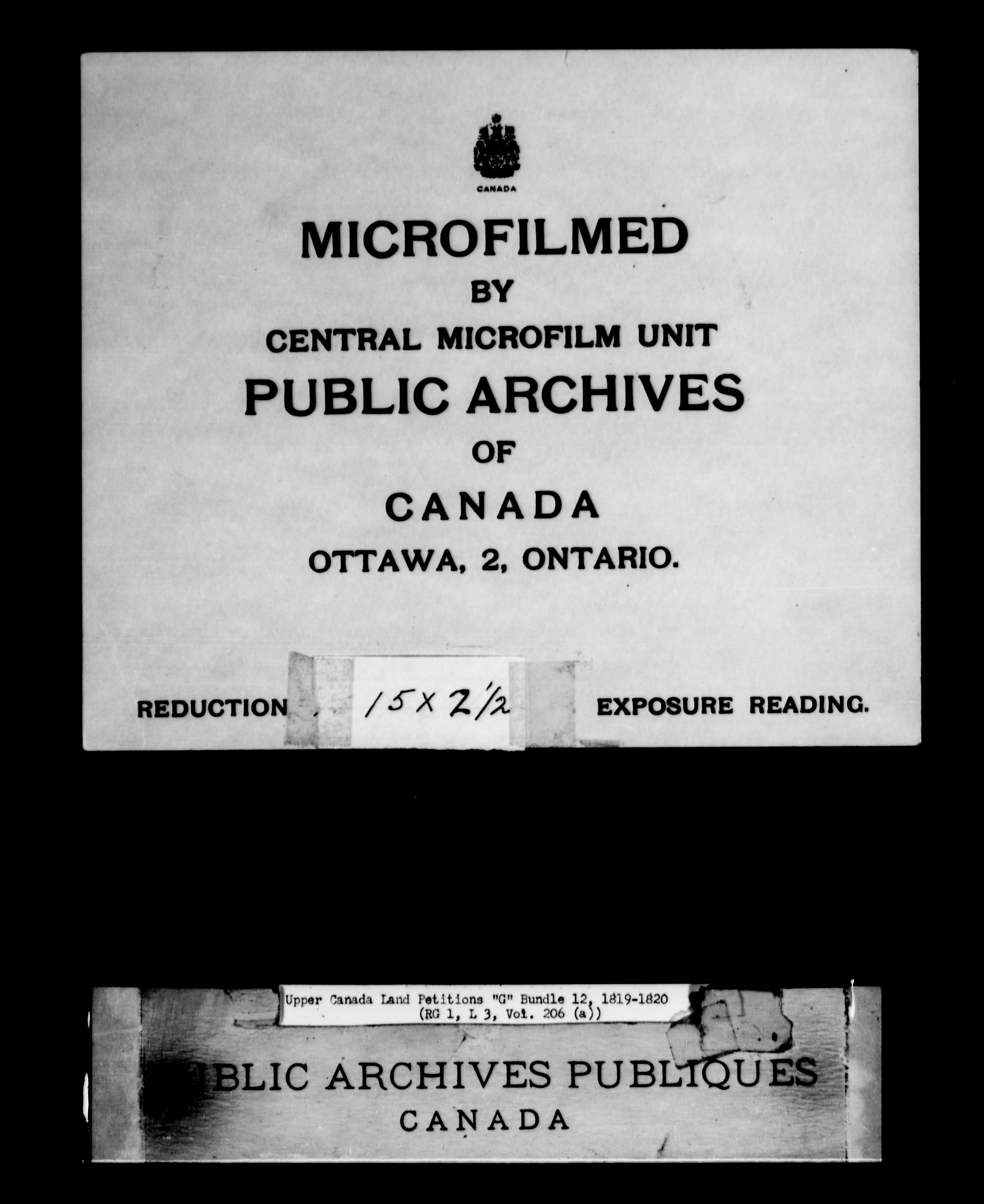 Title: Upper Canada Land Petitions (1763-1865) - Mikan Number: 205131 - Microform: c-2031