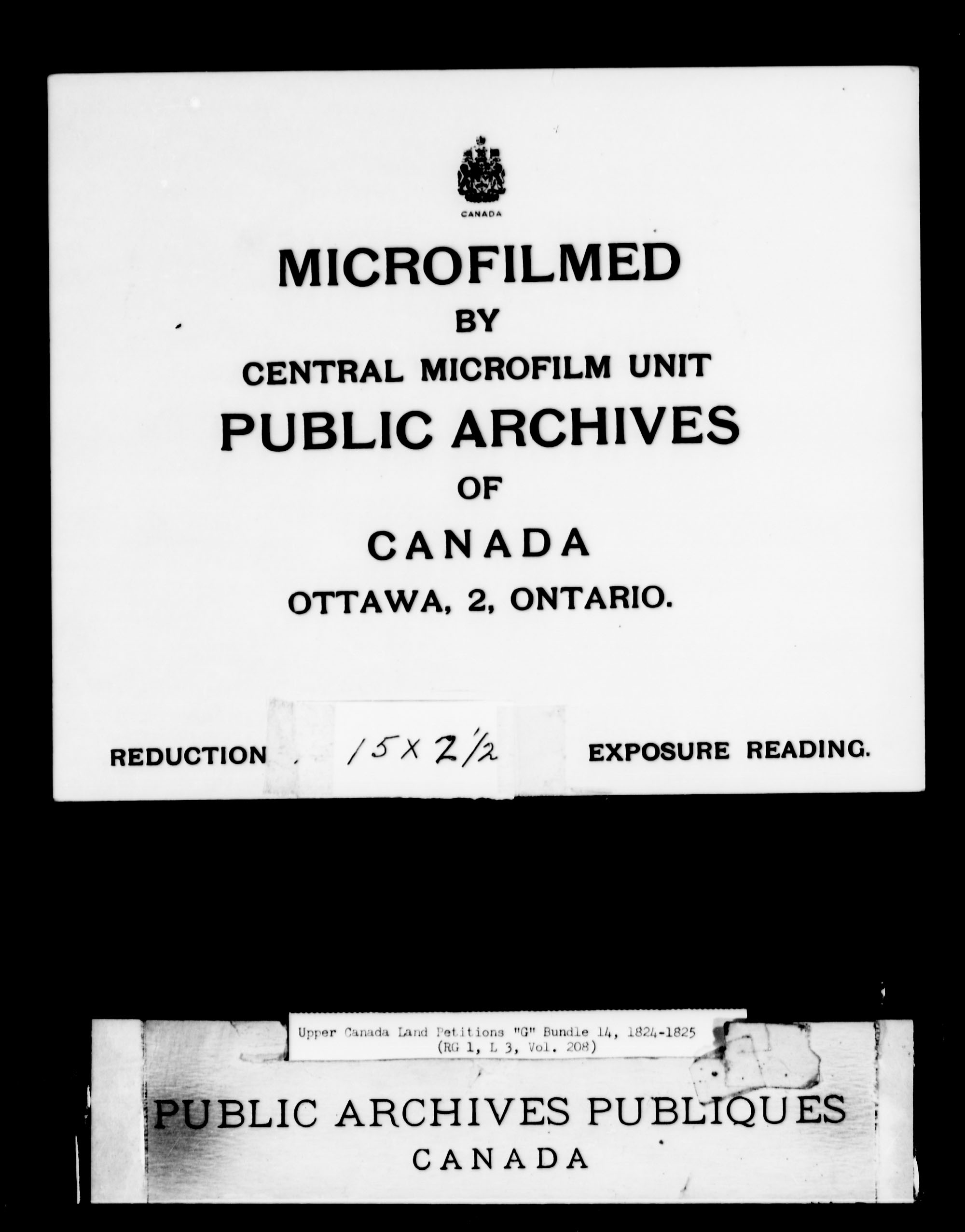 Title: Upper Canada Land Petitions (1763-1865) - Mikan Number: 205131 - Microform: c-2032