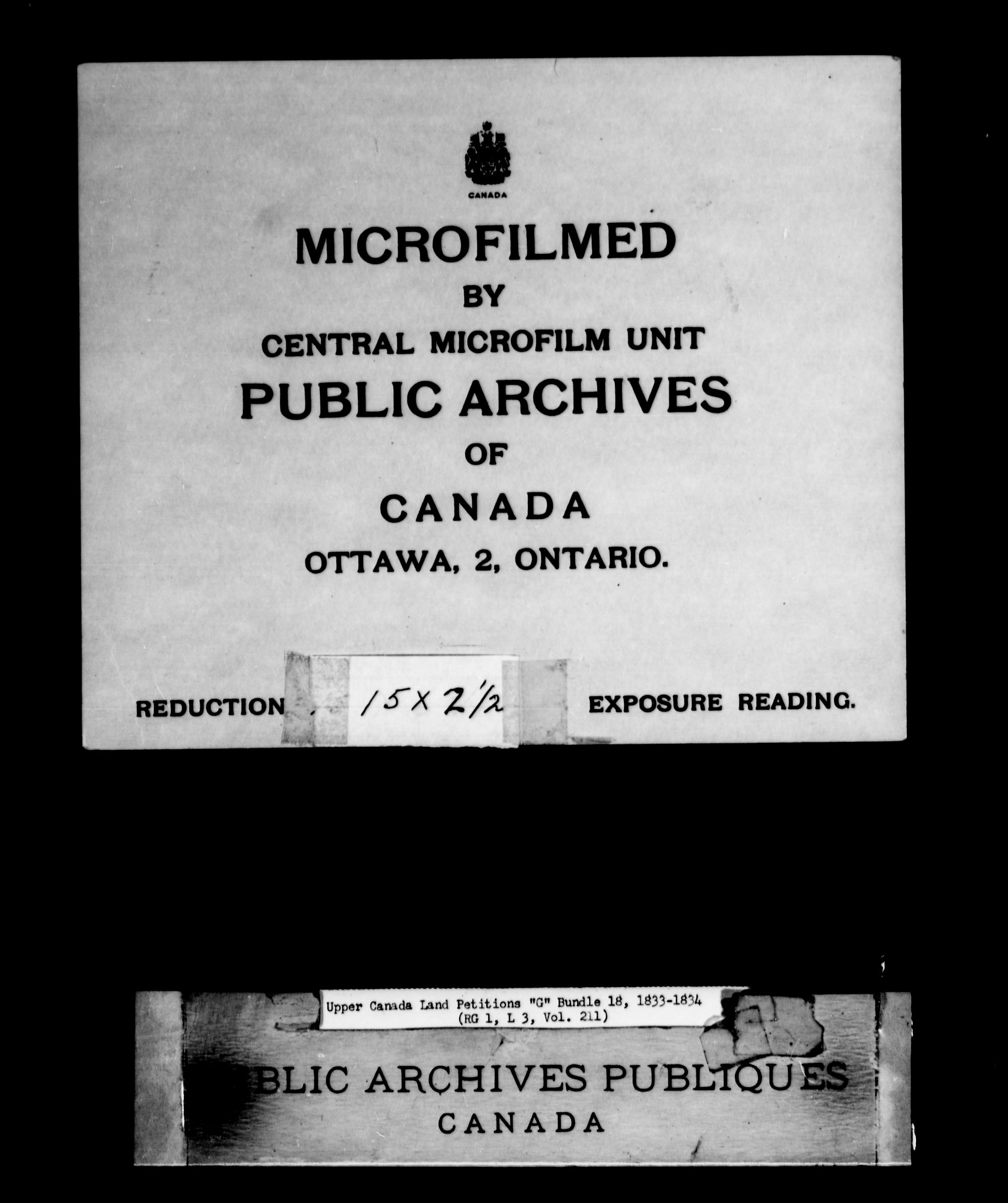 Title: Upper Canada Land Petitions (1763-1865) - Mikan Number: 205131 - Microform: c-2034